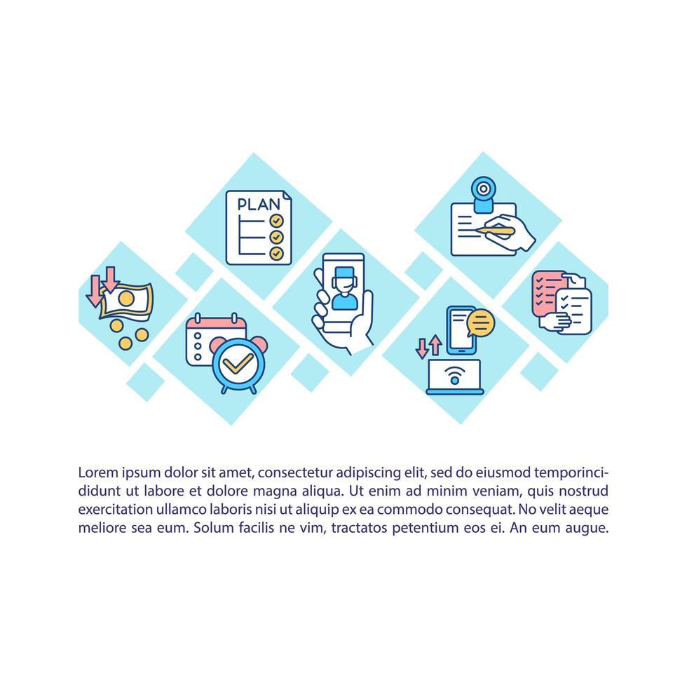 ícone do conceito de telessaúde com texto vetor