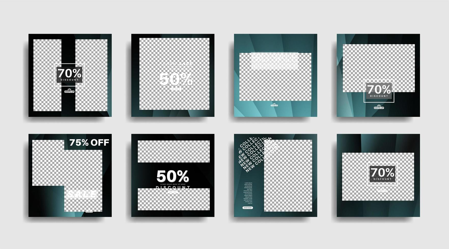 banner web quadrado de promoção moderna para ilustração de design vetorial de mídia social vetor