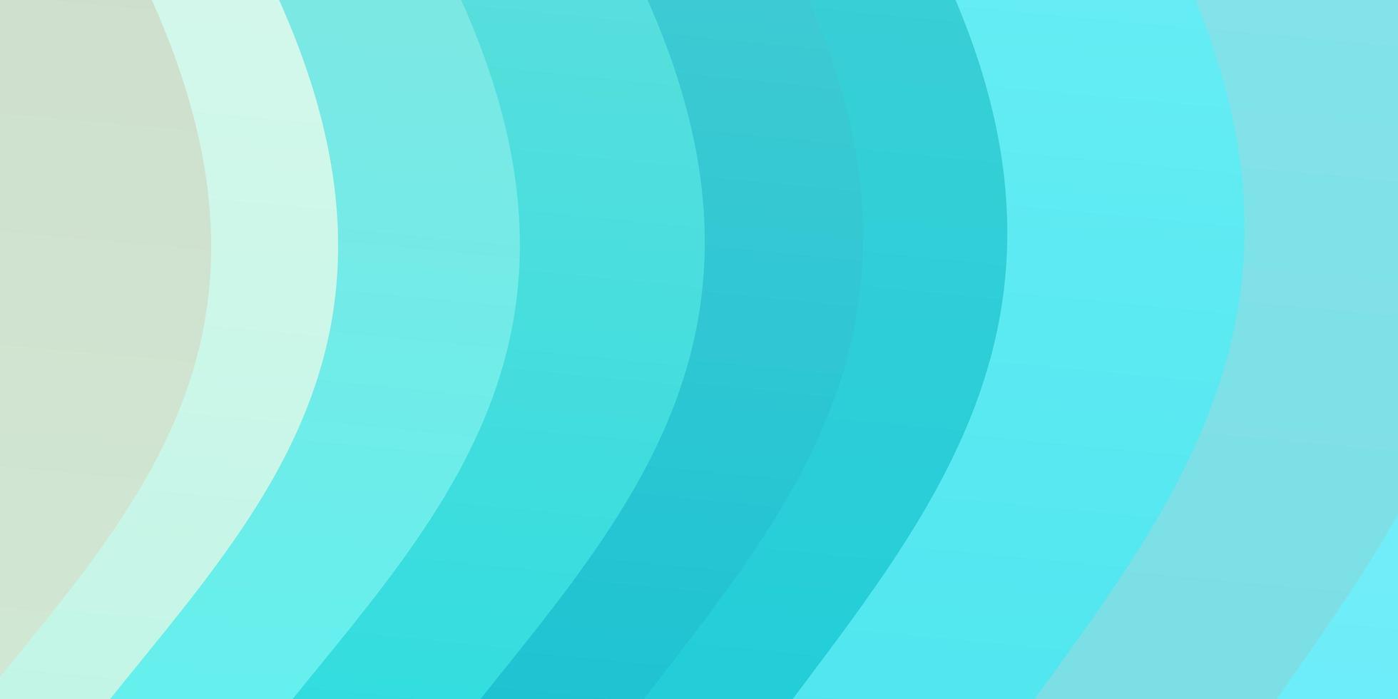 pano de fundo vector azul e verde claro com linhas dobradas.