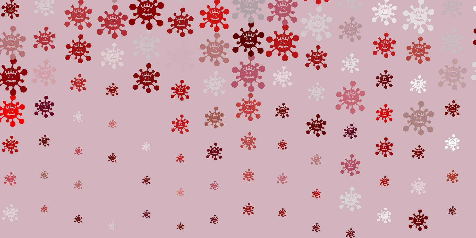 de fundo vector roxo claro com símbolos covid-19.