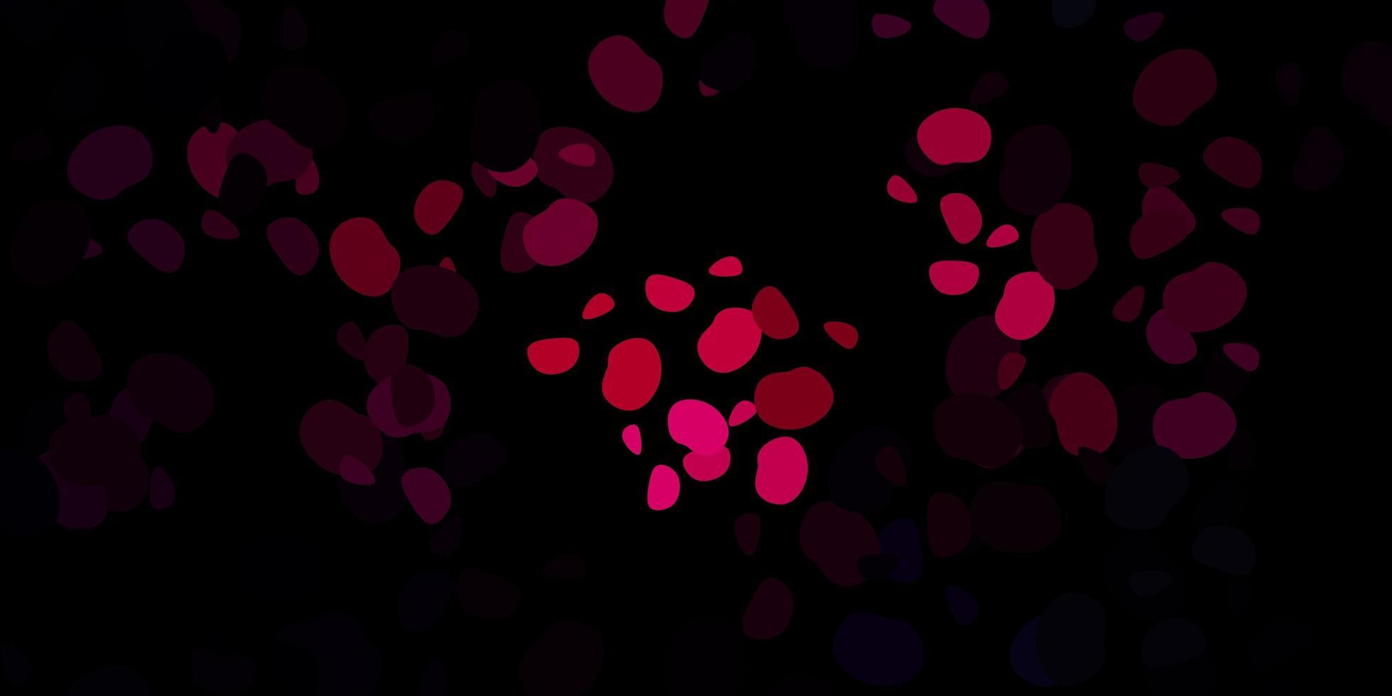 textura vector rosa escuro com formas de memphis.
