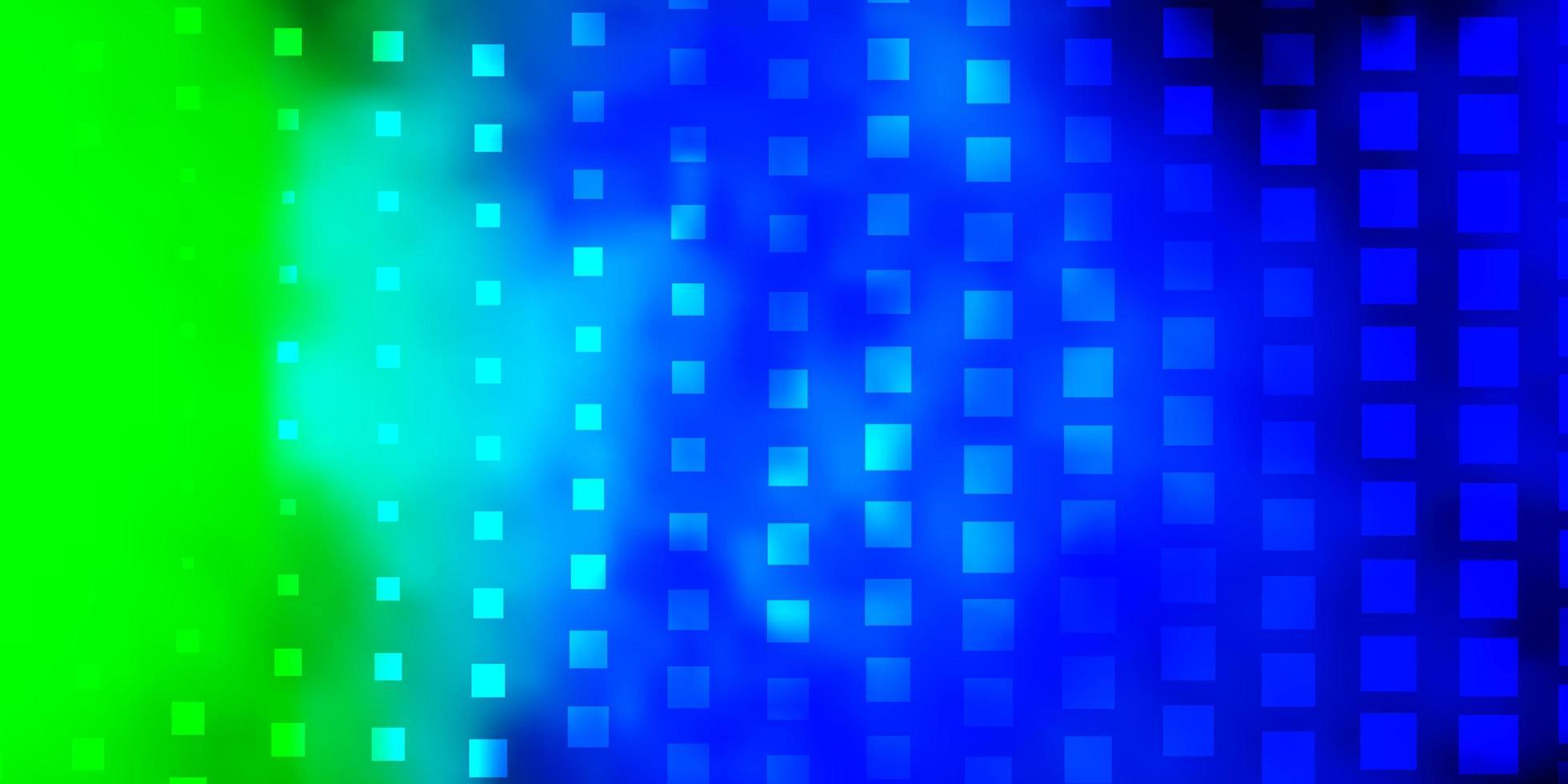 luz azul, verde vetor padrão em estilo quadrado.