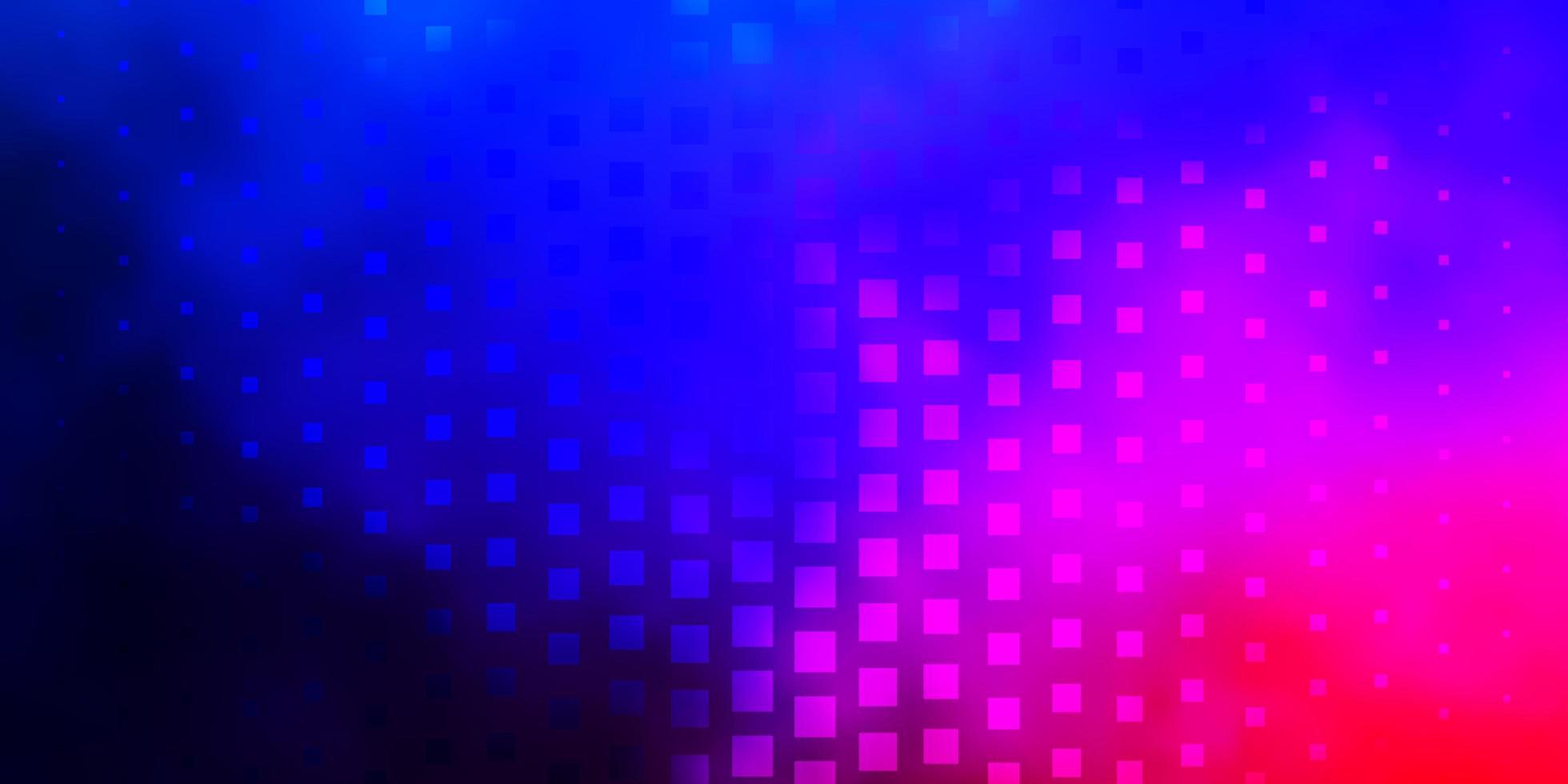 pano de fundo vector azul e vermelho escuro com retângulos.