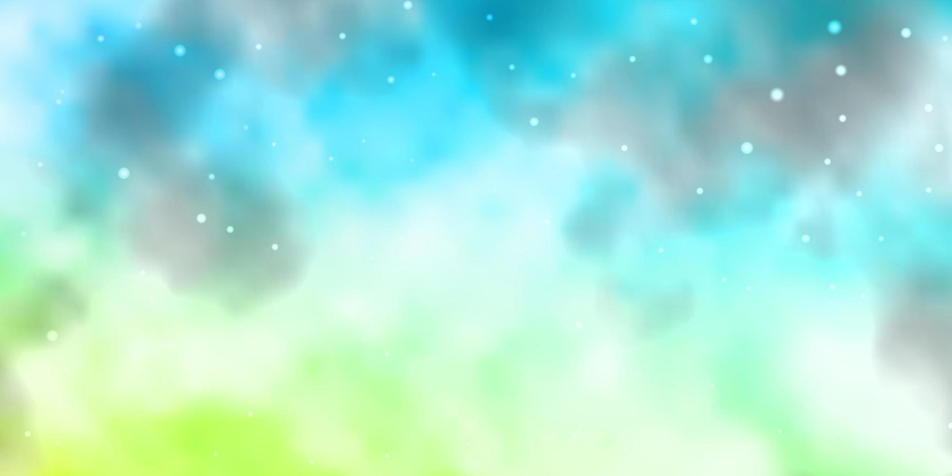 de fundo vector azul, verde claro com estrelas coloridas.