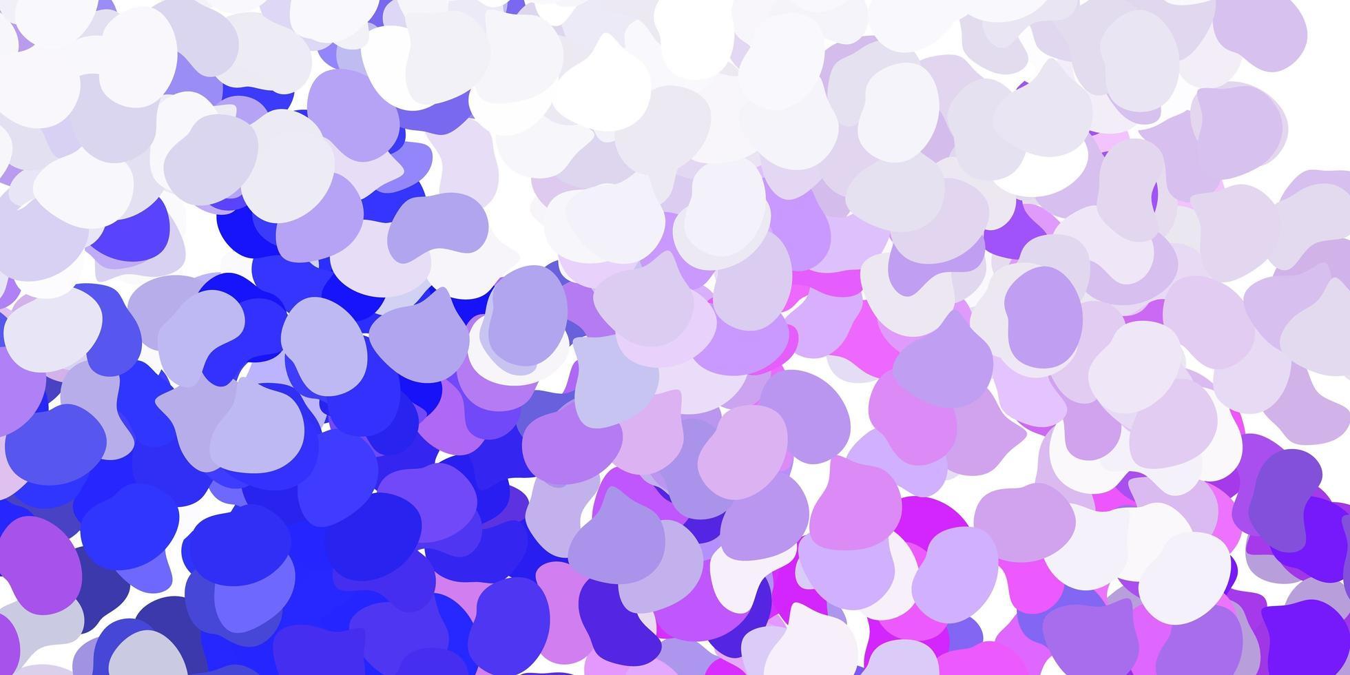 pano de fundo rosa claro, azul vector com formas caóticas.