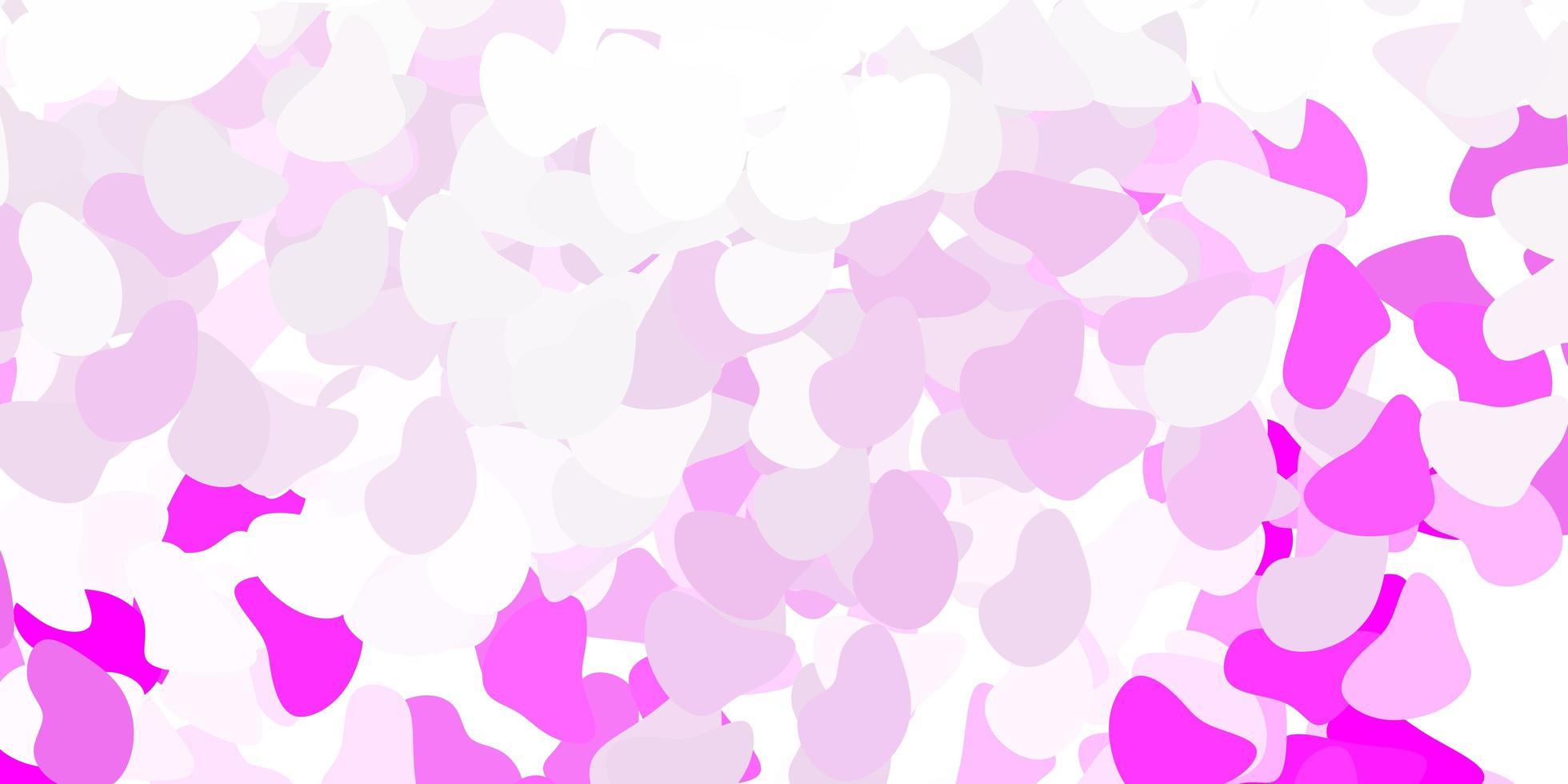 textura vector roxo claro com formas de memphis.