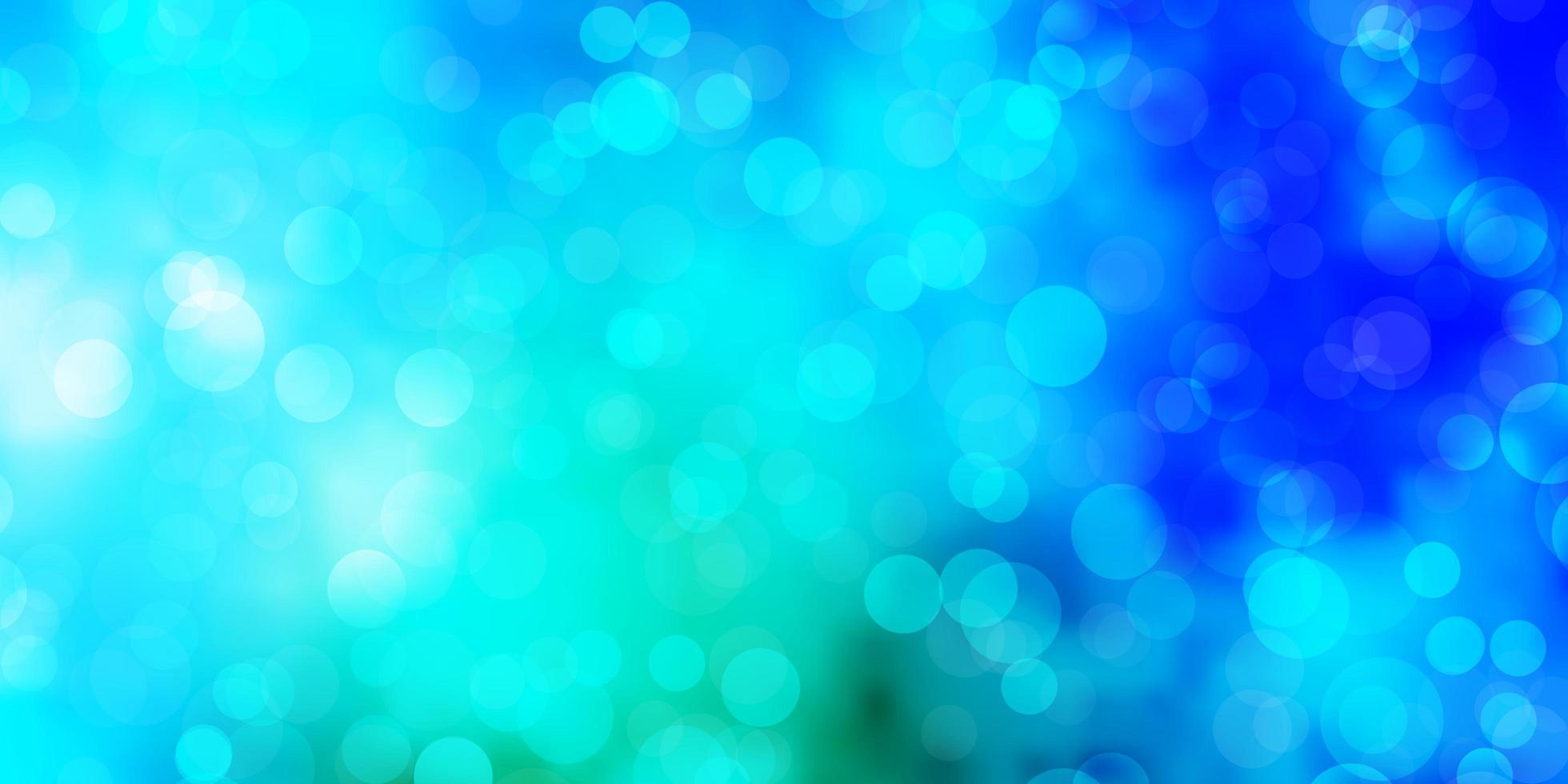 layout de vetor azul e verde claro com círculos.