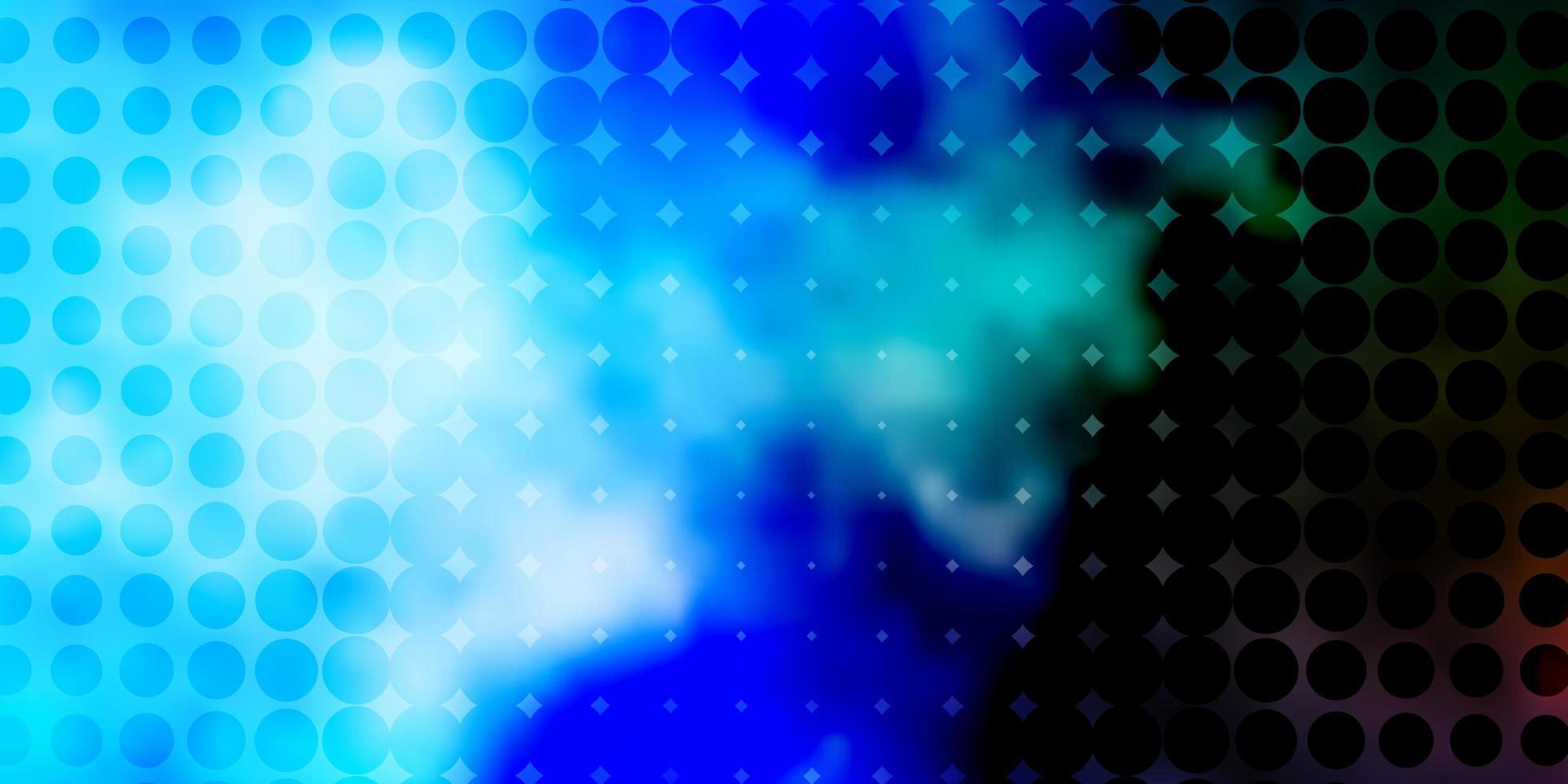 pano de fundo vector azul e verde claro com círculos.