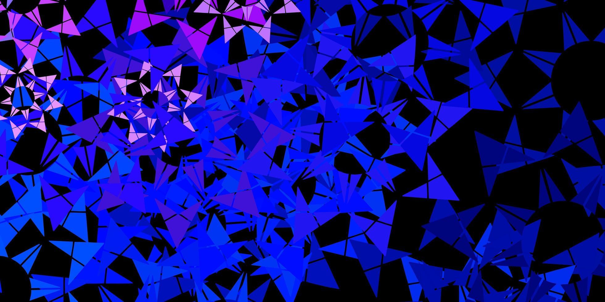modelo de vetor azul claro e verde com cristais, triângulos.
