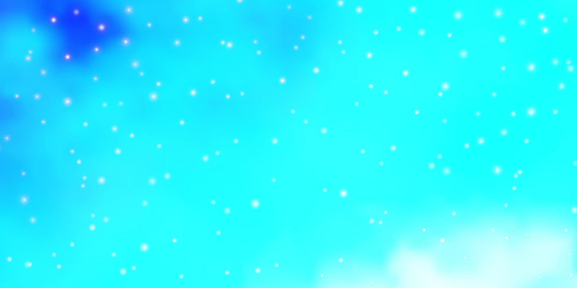 textura vector azul e verde claro com belas estrelas.