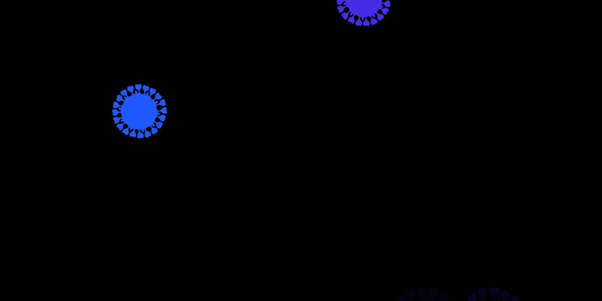 modelo de vetor rosa escuro, azul com sinais de gripe.