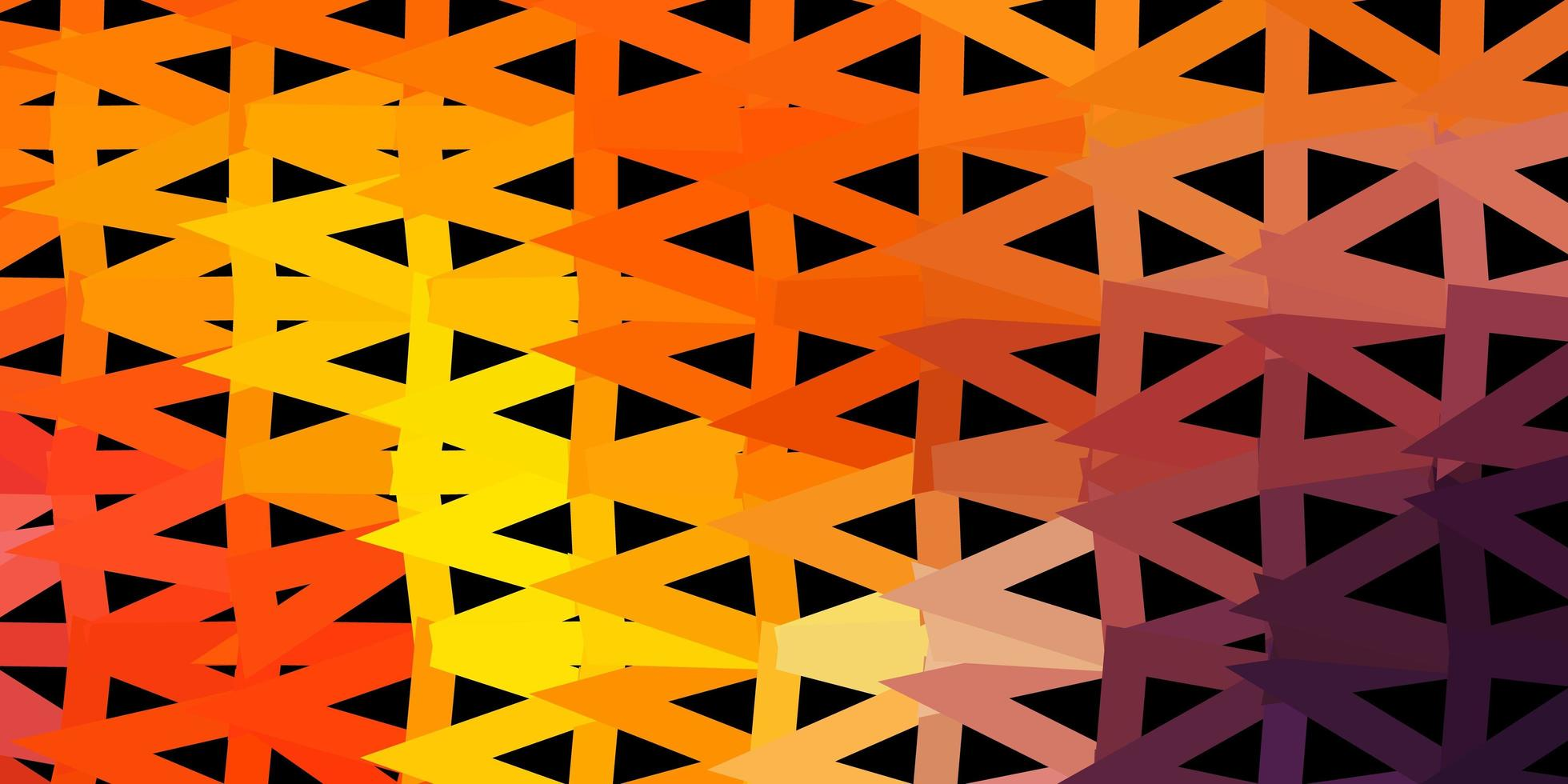 fundo poligonal do vetor rosa claro, amarelo.