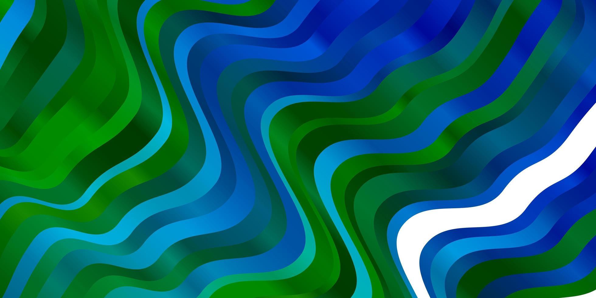 pano de fundo vector azul e verde claro com arco circular.