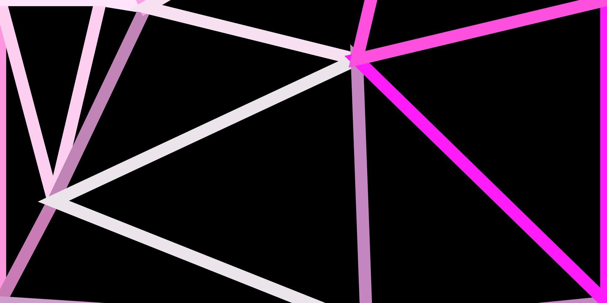 textura de polígono gradiente de vetor rosa claro, amarelo.