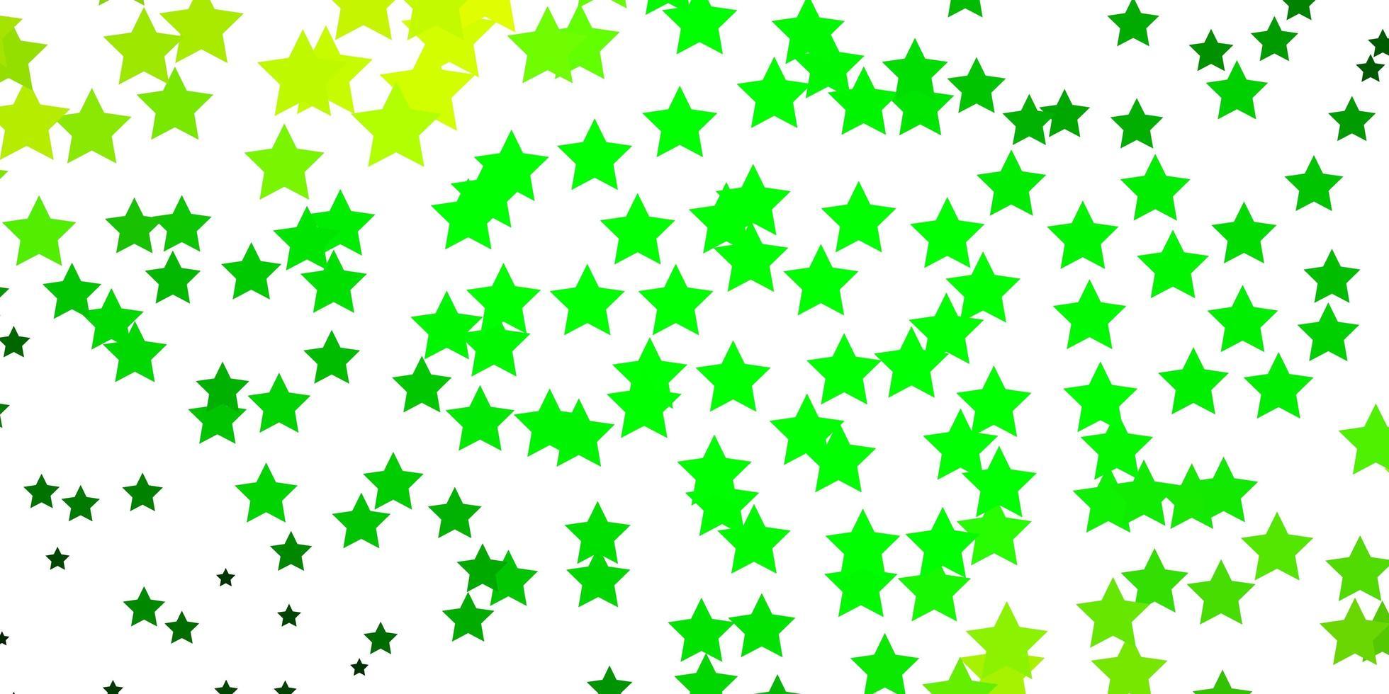 modelo de vetor azul escuro e verde com estrelas de néon.
