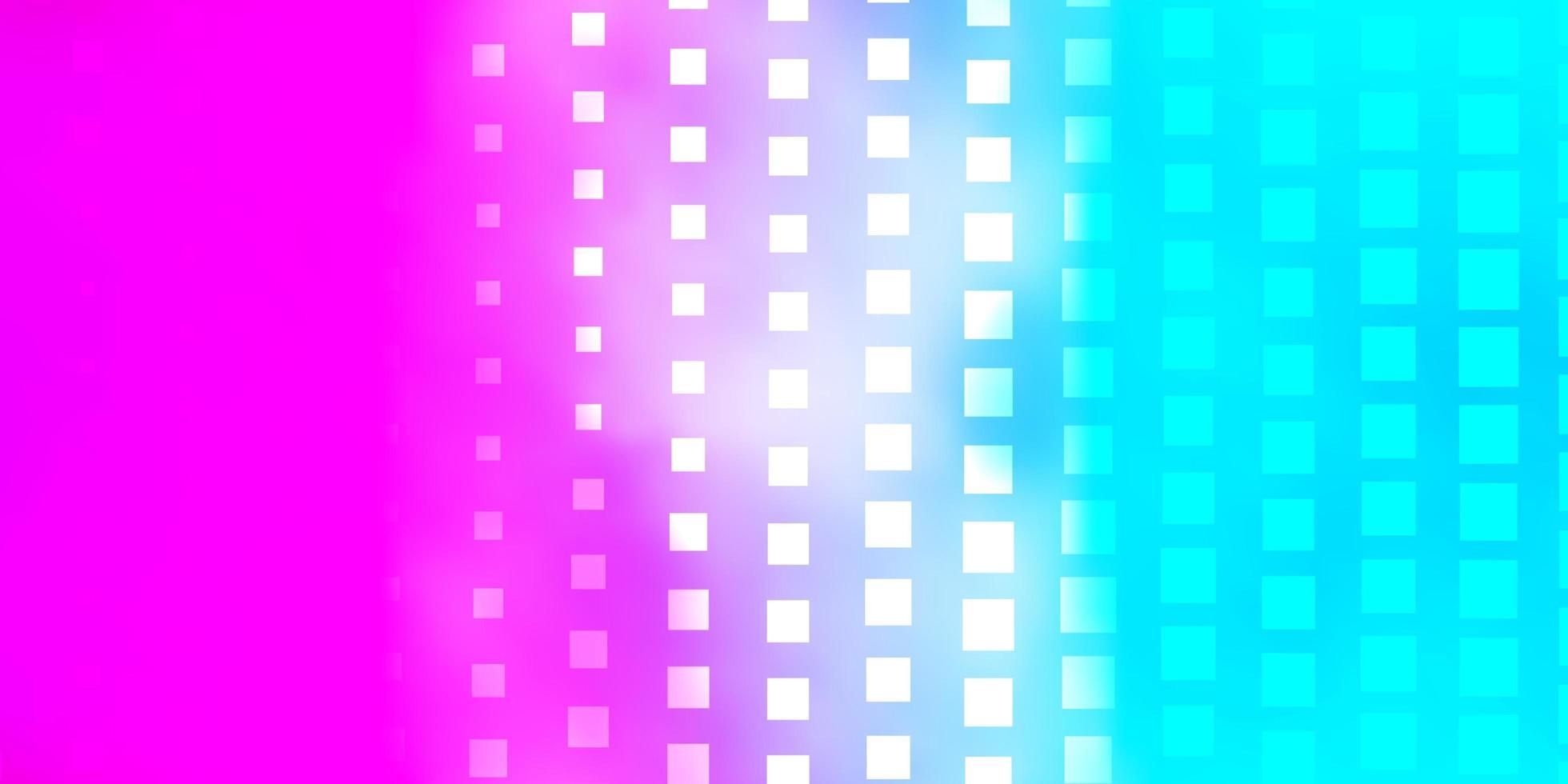 pano de fundo vector azul e vermelho claro com retângulos.