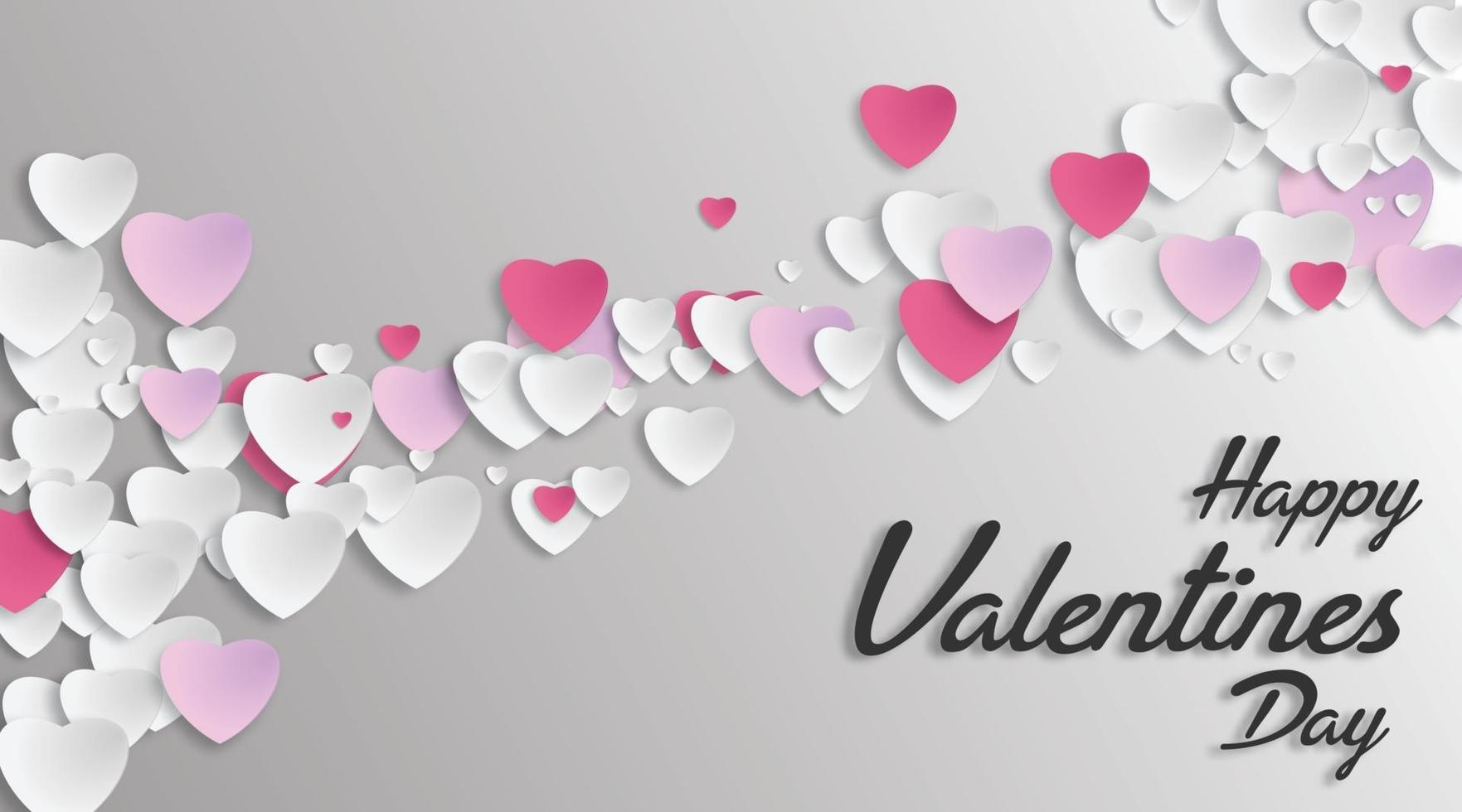 amo o projeto do coração no estilo de corte de papel. ilustração vetorial. para o fundo do dia dos namorados vetor