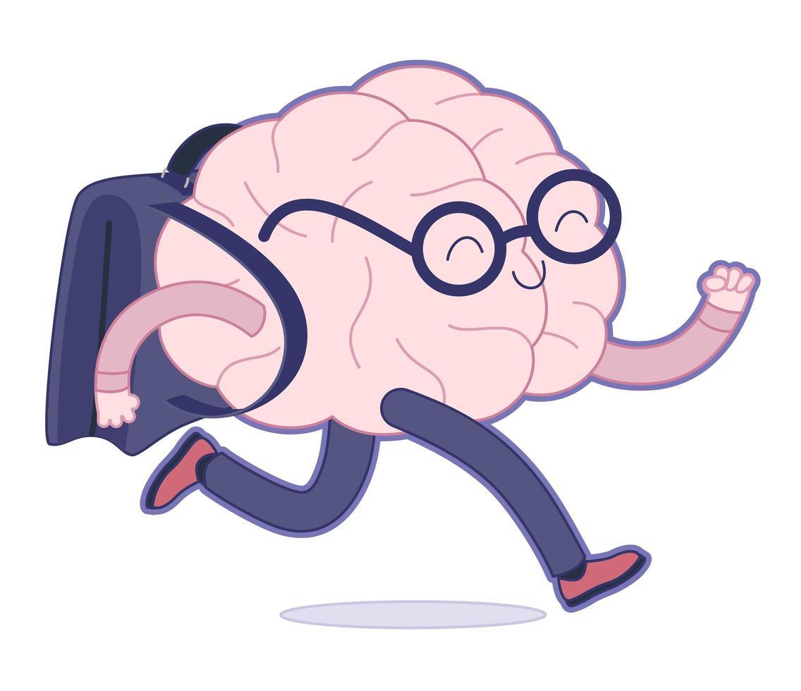 de volta às aulas, coleta de cérebros vetor