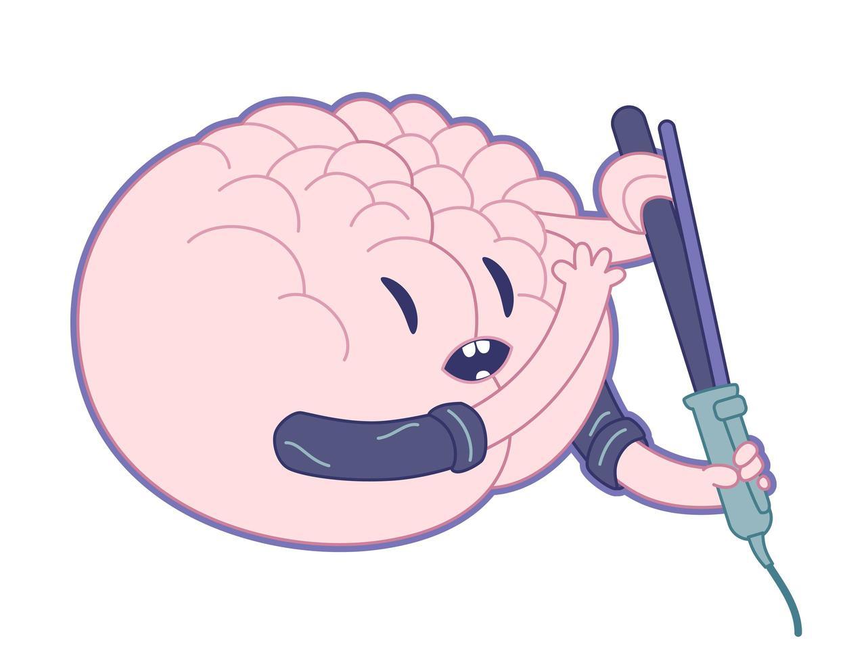 bela mente, coleção de cérebros vetor
