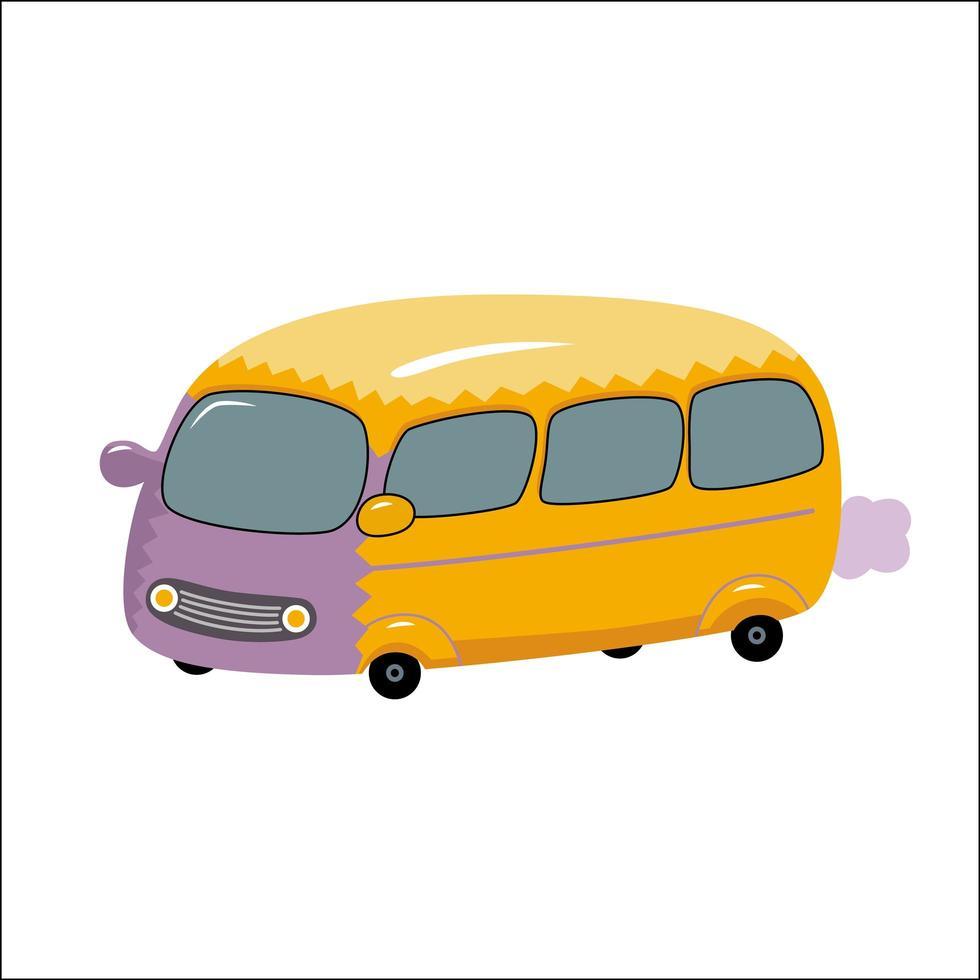 brinquedo de ônibus amarelo vetor