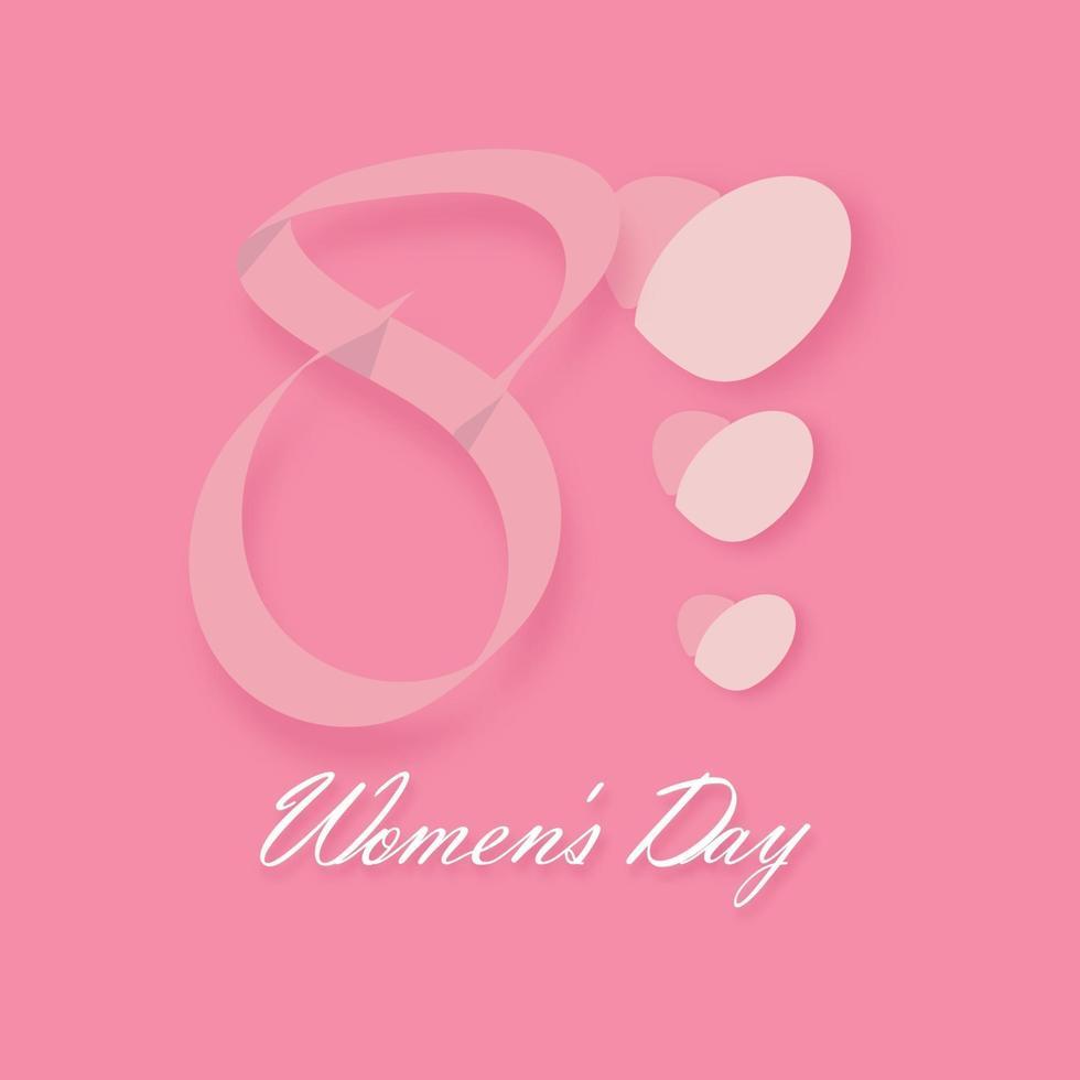 feliz dia internacional da mulher em 8 de março design background. Ilustração vetorial 3d vetor