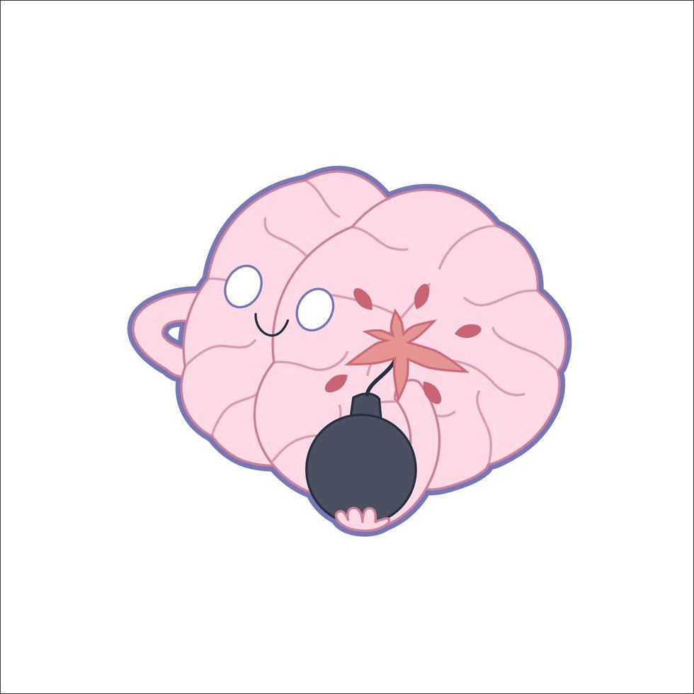 ilustração do boom do cérebro vetor