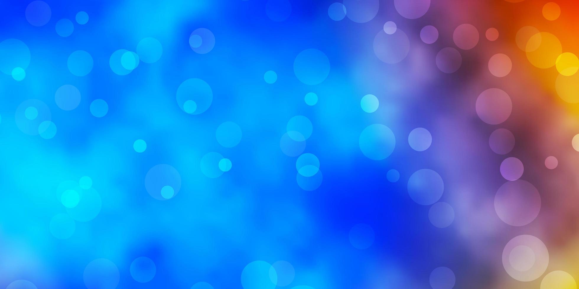 modelo de vetor azul e amarelo claro com círculos.