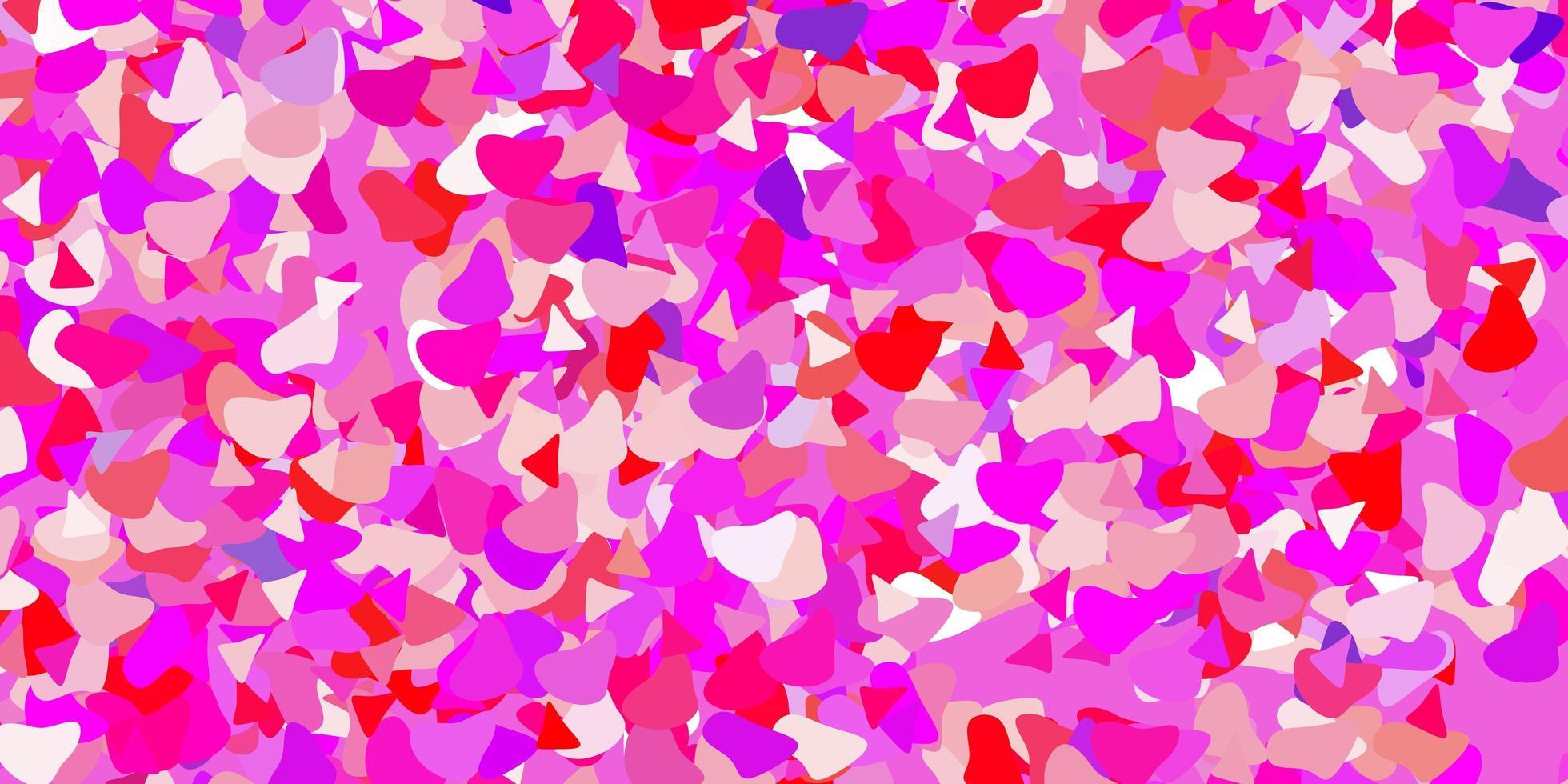 padrão de vetor rosa claro roxo com formas abstratas.