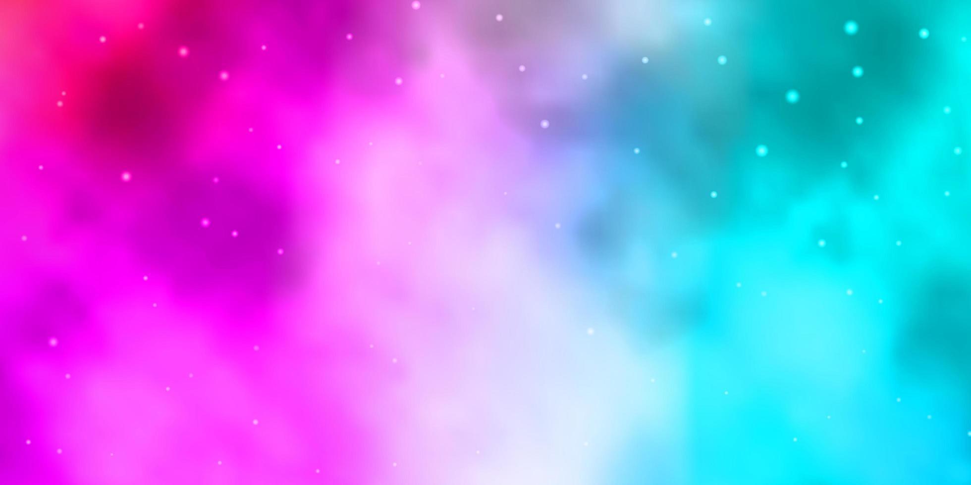 fundo vector azul, vermelho claro com estrelas coloridas.
