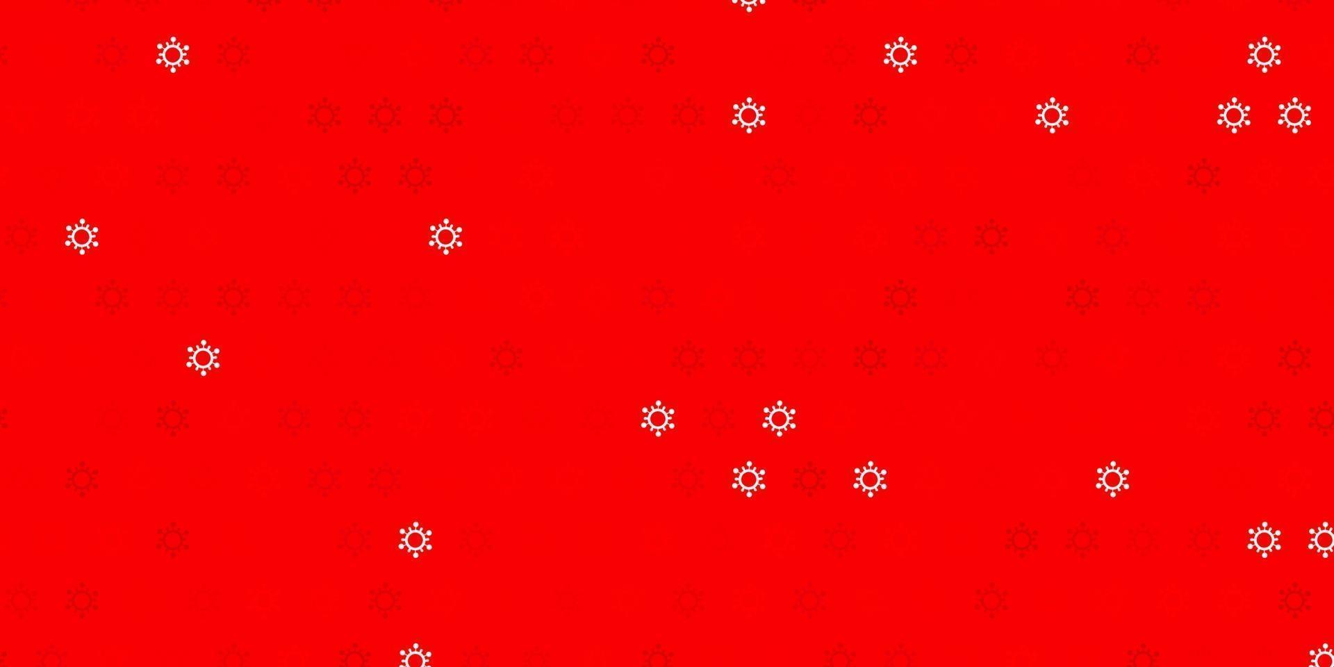 modelo de vetor vermelho claro com sinais de gripe.