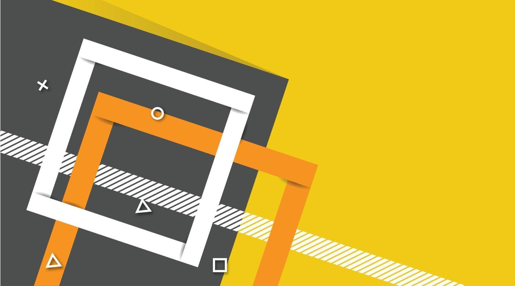 fundo gráfico futurista moderno abstrato. fundo amarelo com listras. desenho de fundo abstrato geométrico minimalista, fundo de banner em cores amarelas e cinza brilhantes. desenho vetorial vetor