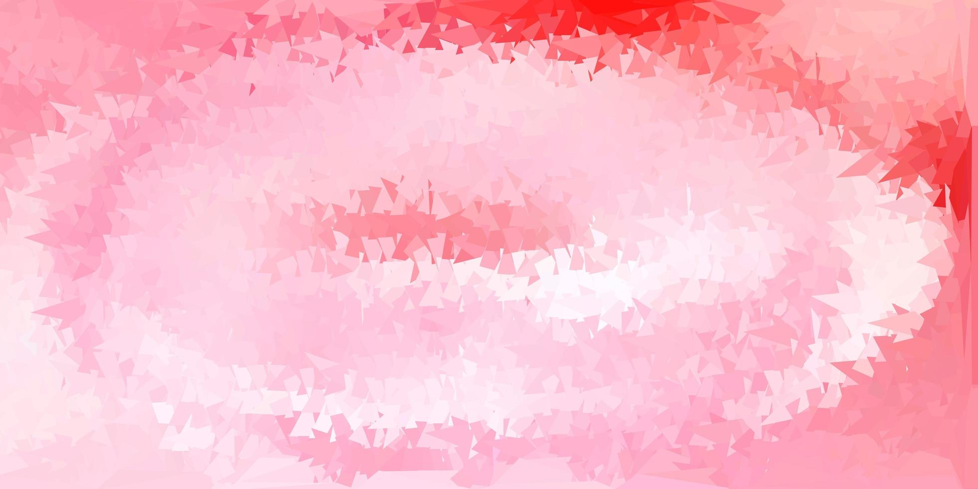textura de triângulo abstrato de vetor vermelho claro.
