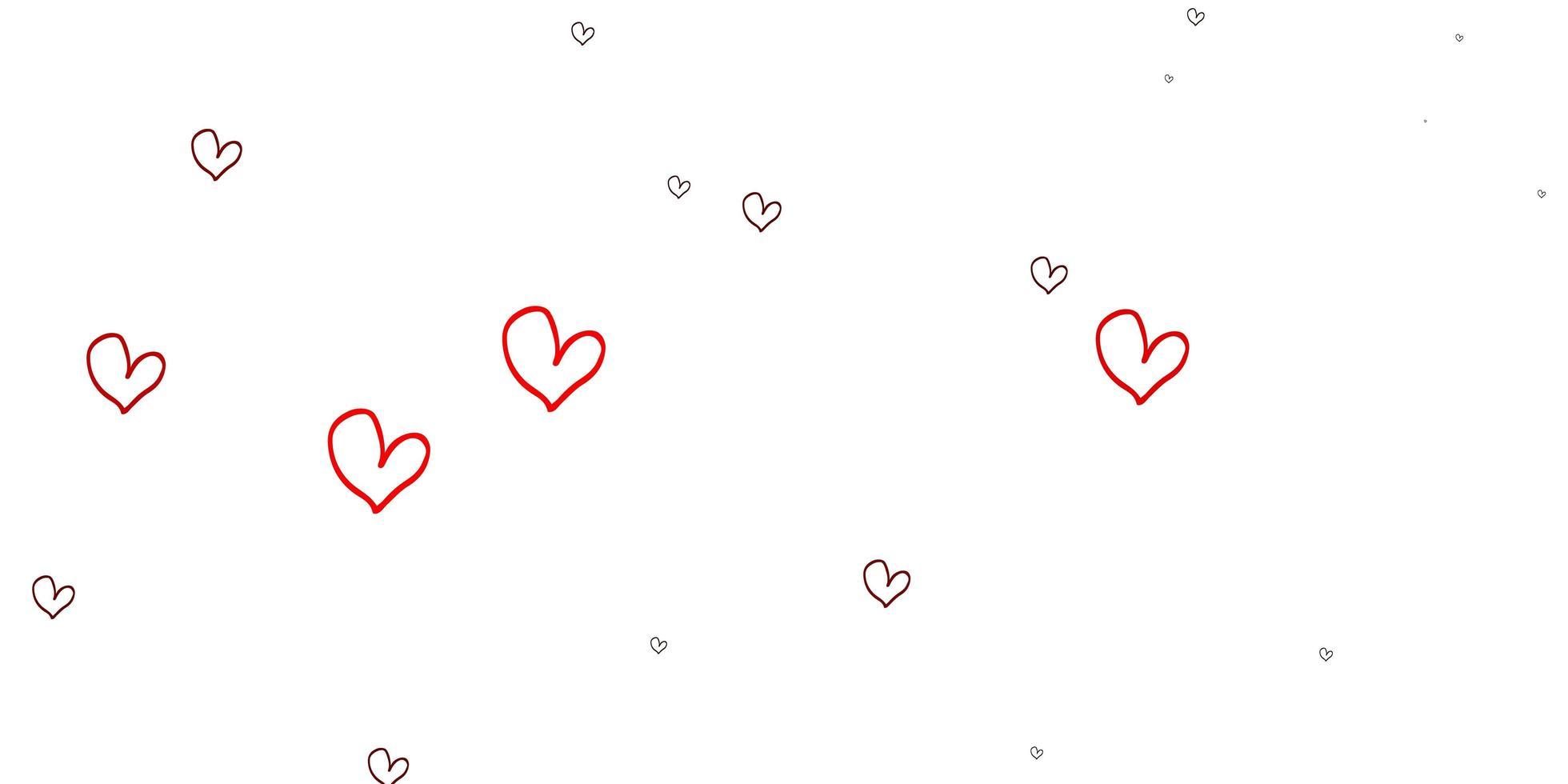 padrão de luz vermelha vector com corações coloridos.