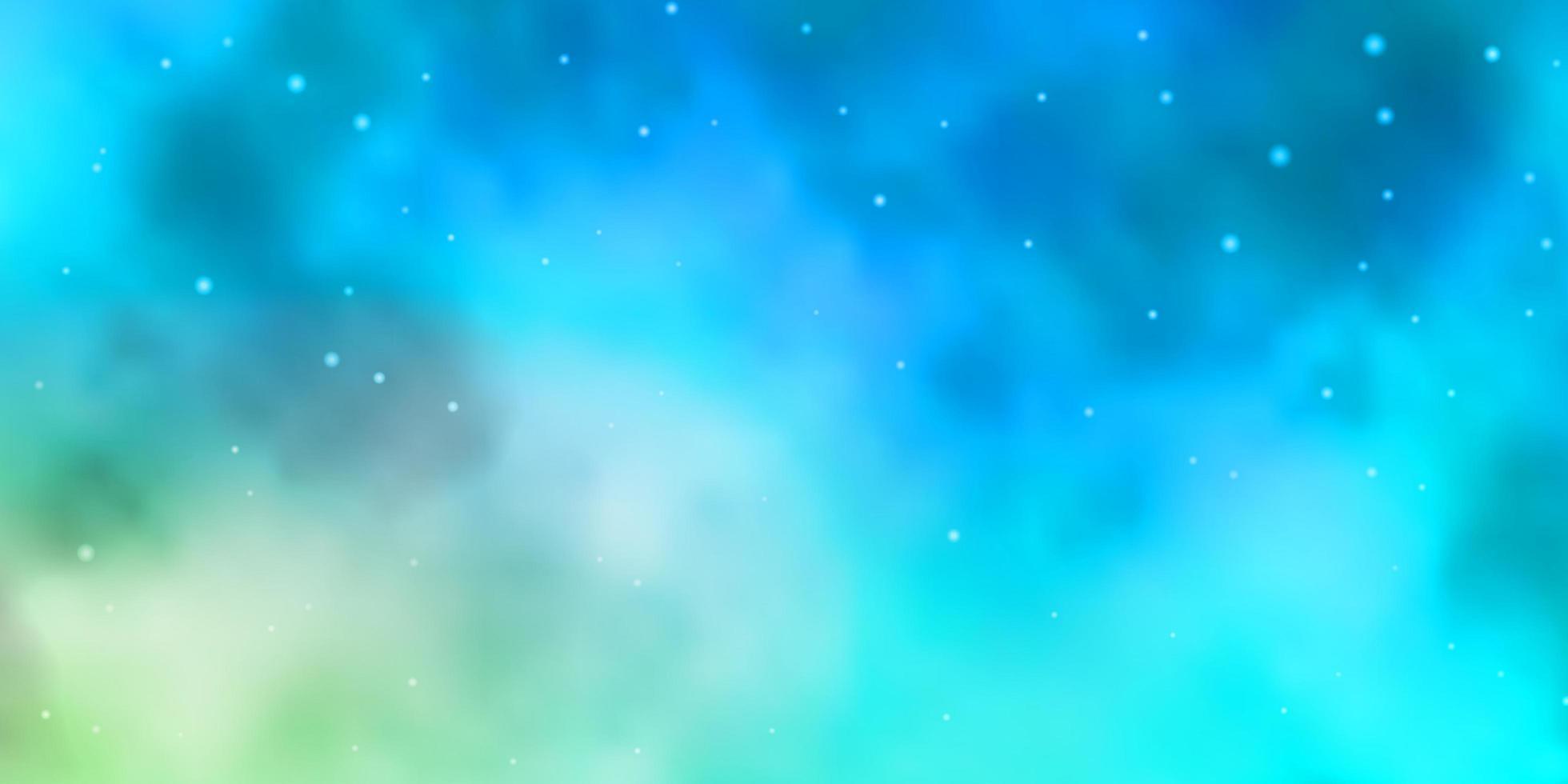 padrão de vetor azul e amarelo claro com estrelas abstratas.