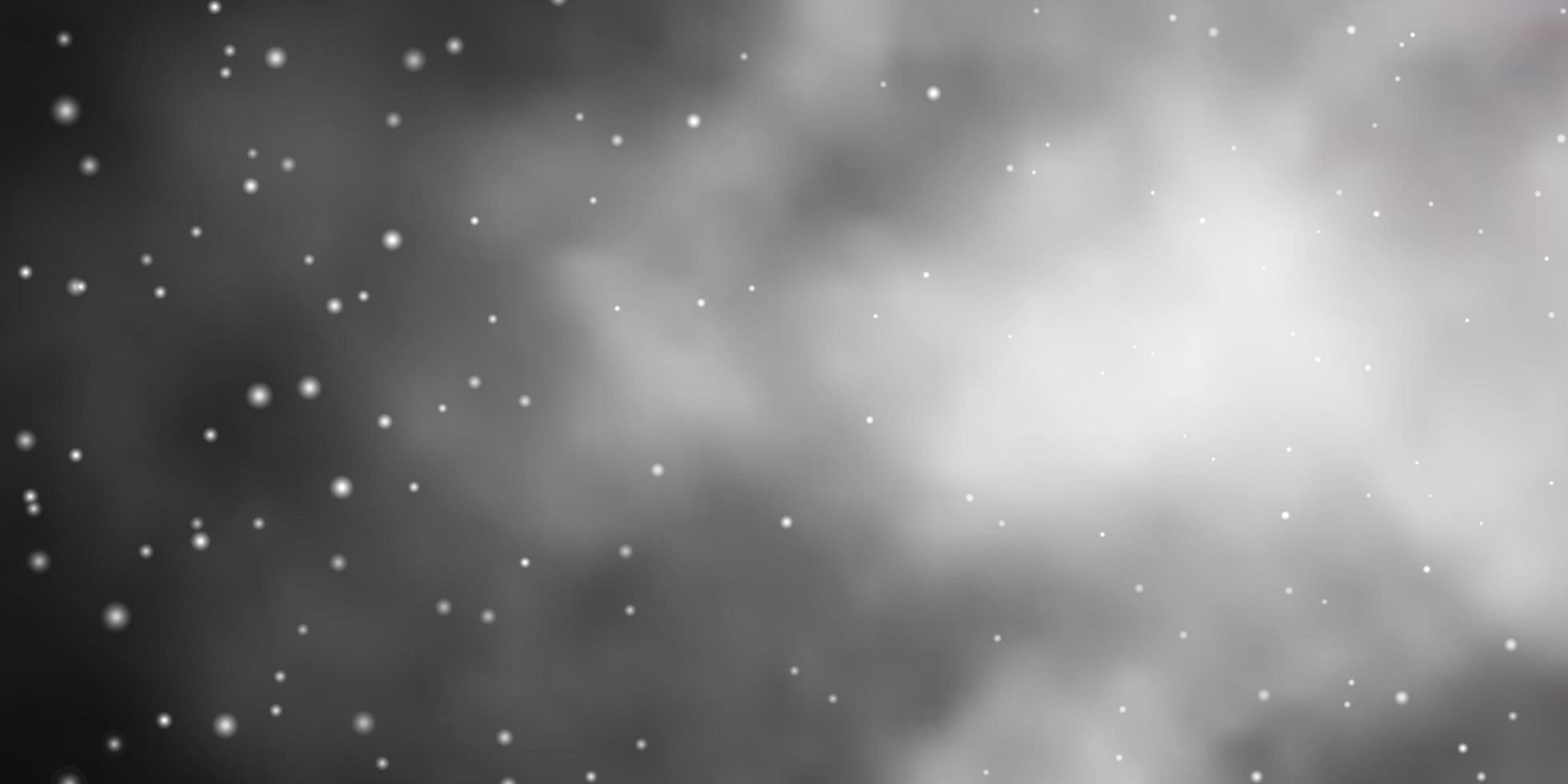 layout de vetor de cinza escuro com estrelas brilhantes.