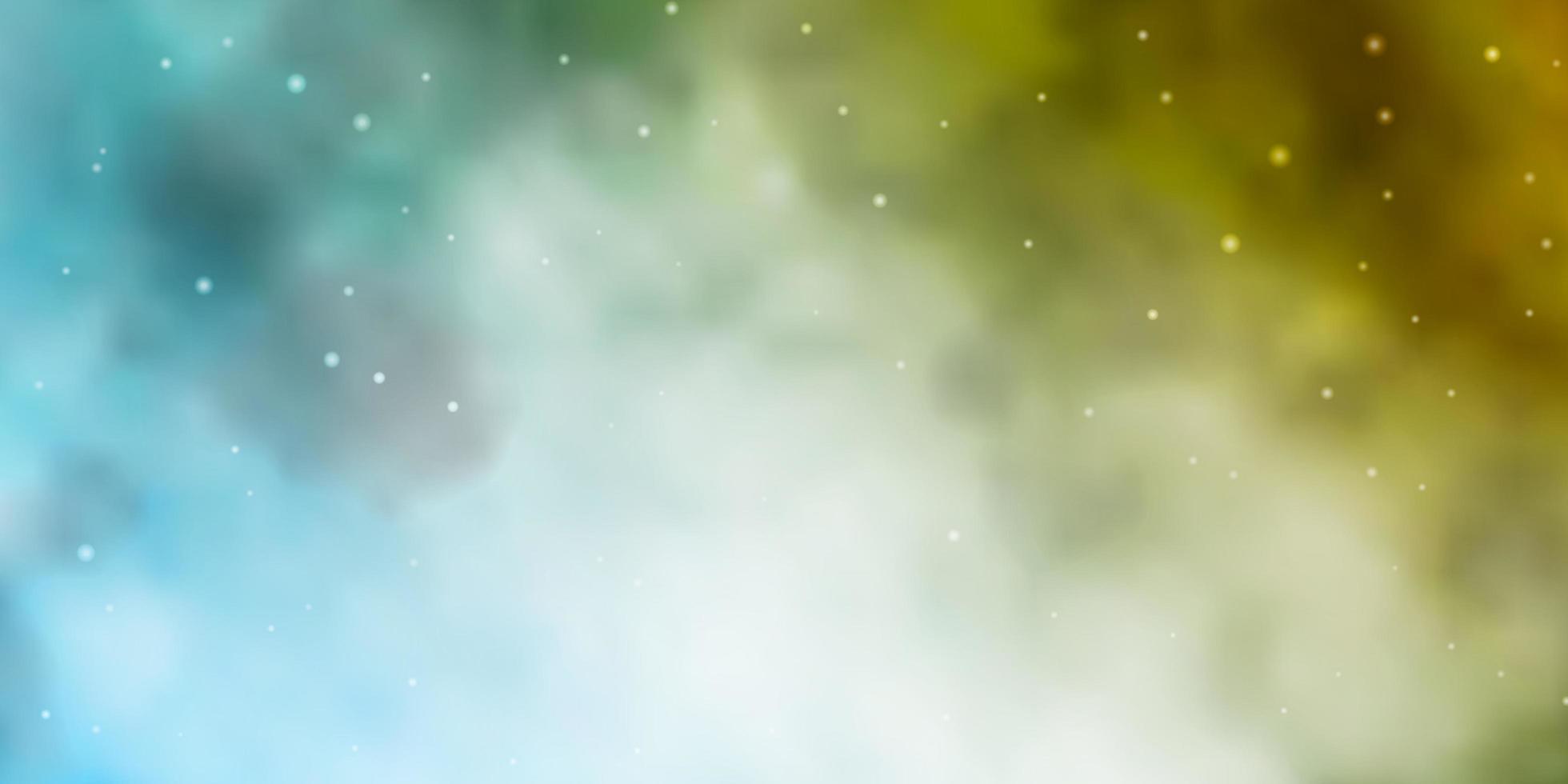 layout de vetor de azul claro e amarelo com estrelas brilhantes.