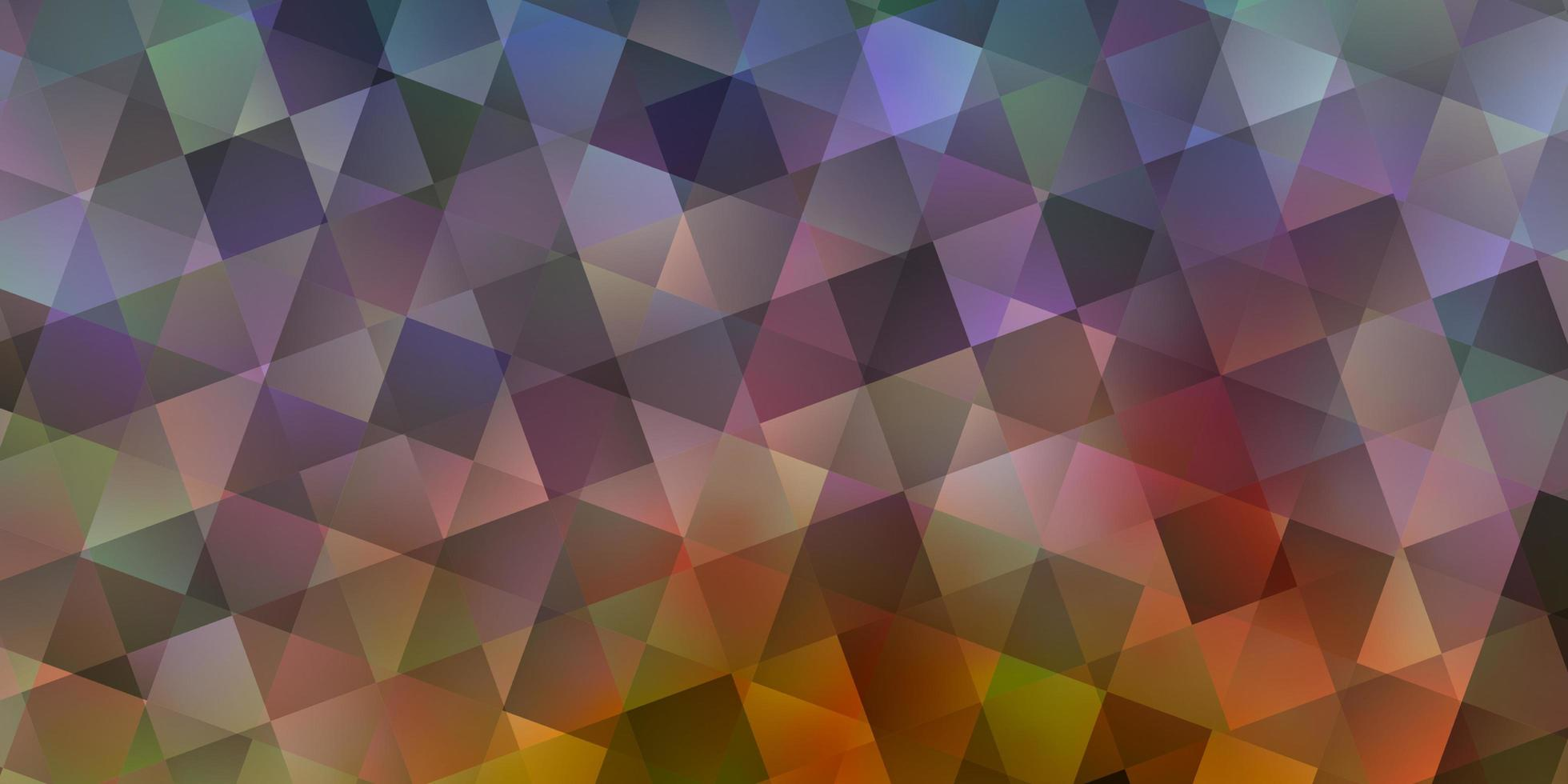 de fundo vector azul e amarelo claro com triângulos, retângulos.
