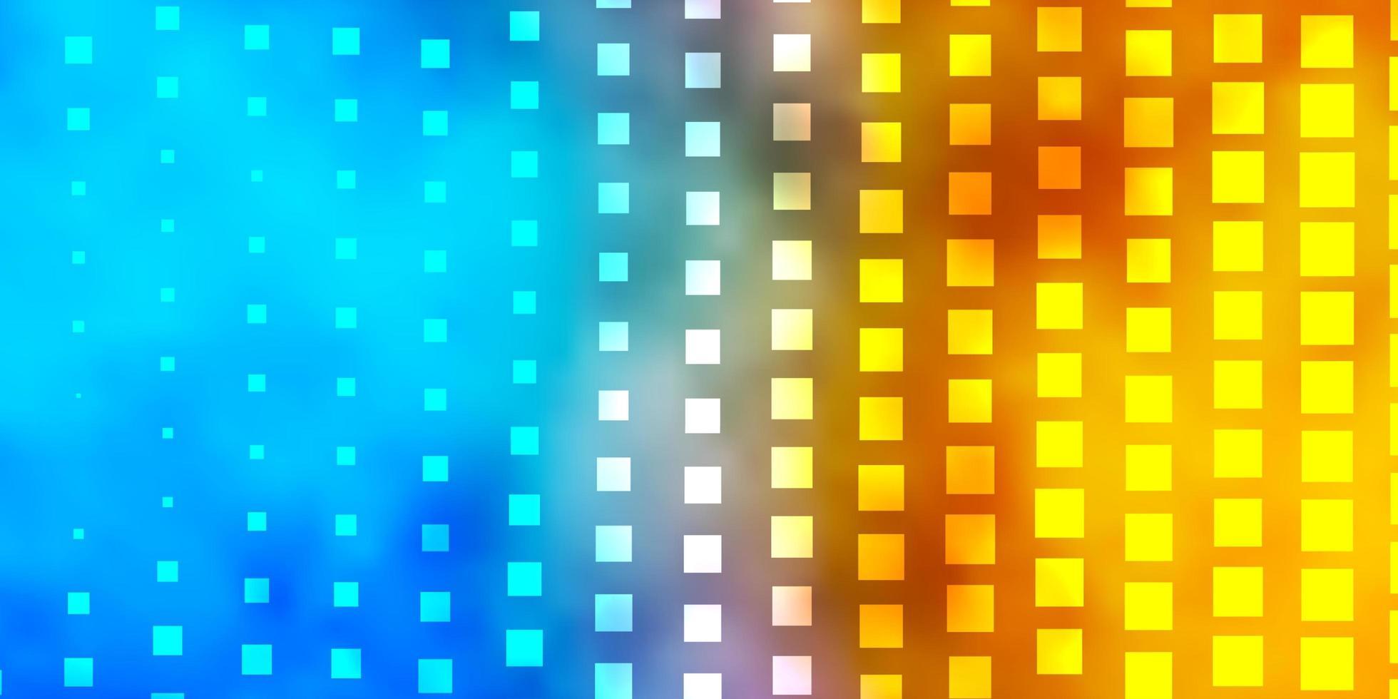 pano de fundo vector azul e amarelo claro com retângulos.