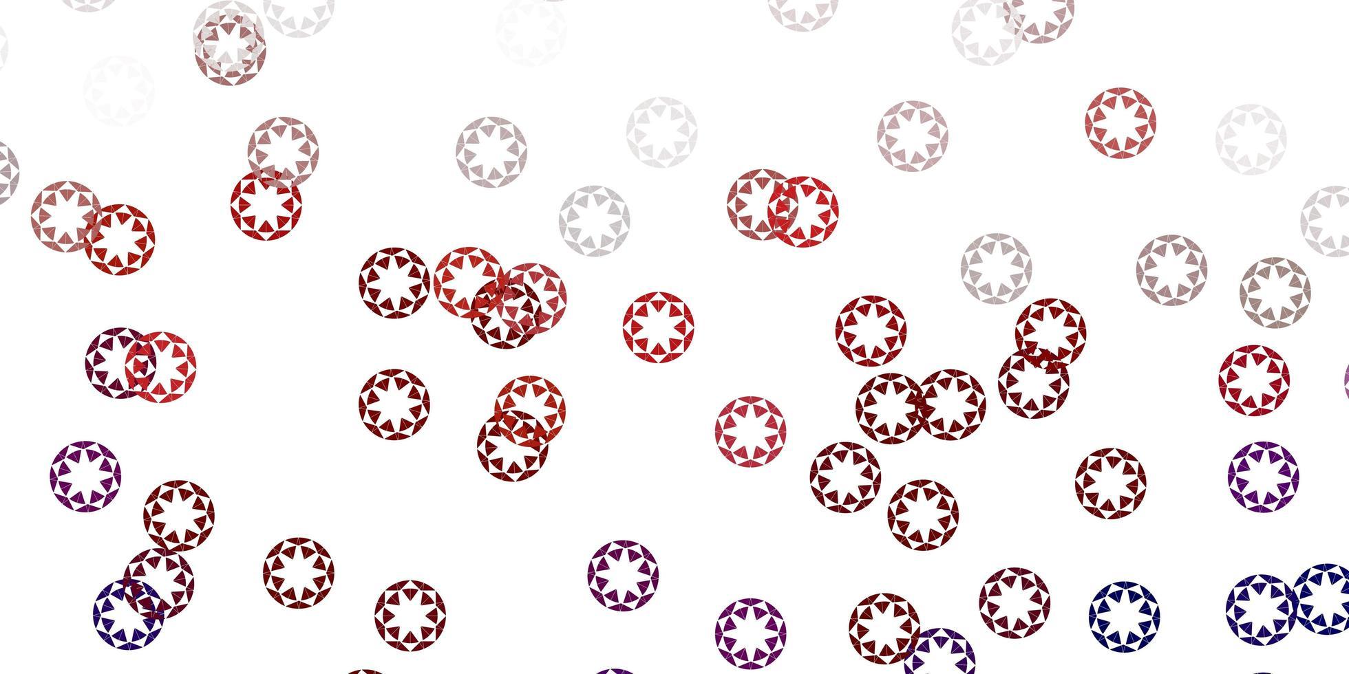 padrão de vetor vermelho claro com esferas.