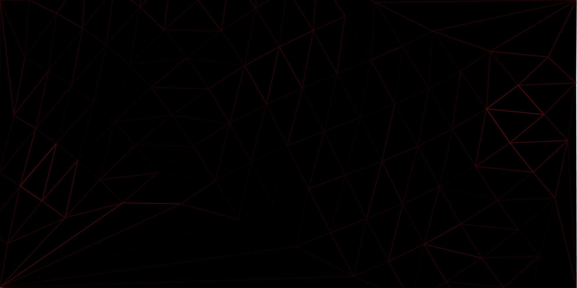 papel de parede poligonal geométrico de vetor vermelho escuro.