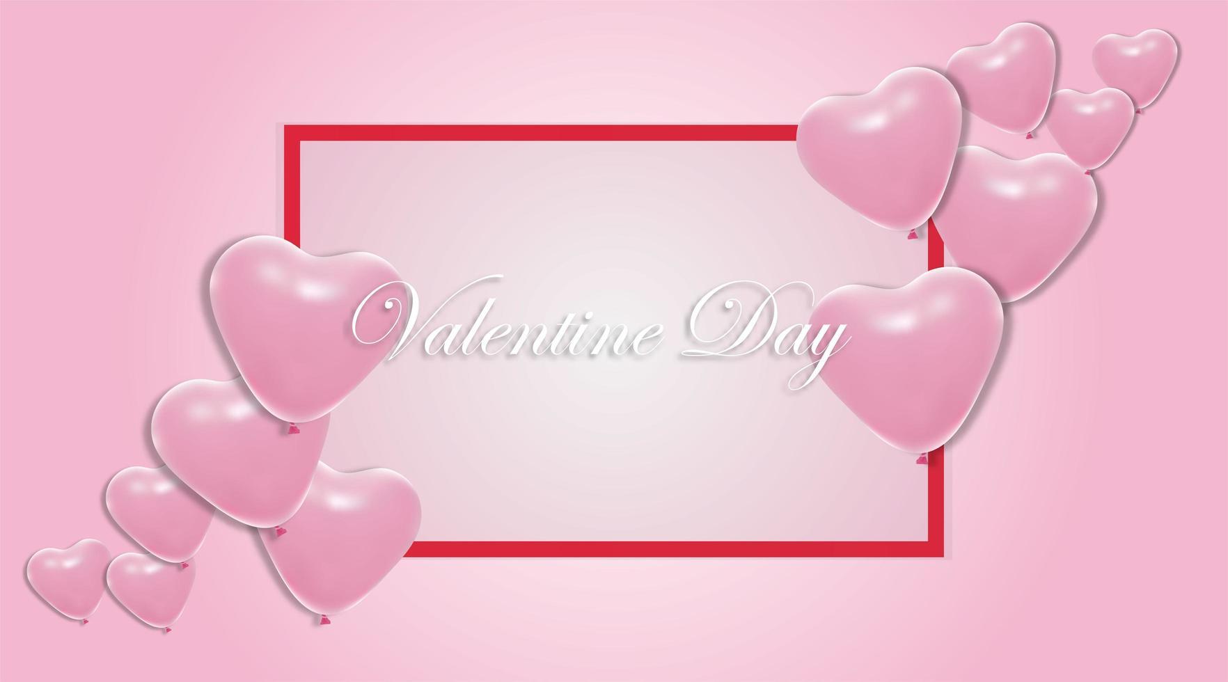 fundos do dia dos namorados. Desenho de balão de coração 3D. ilustração vetorial vetor