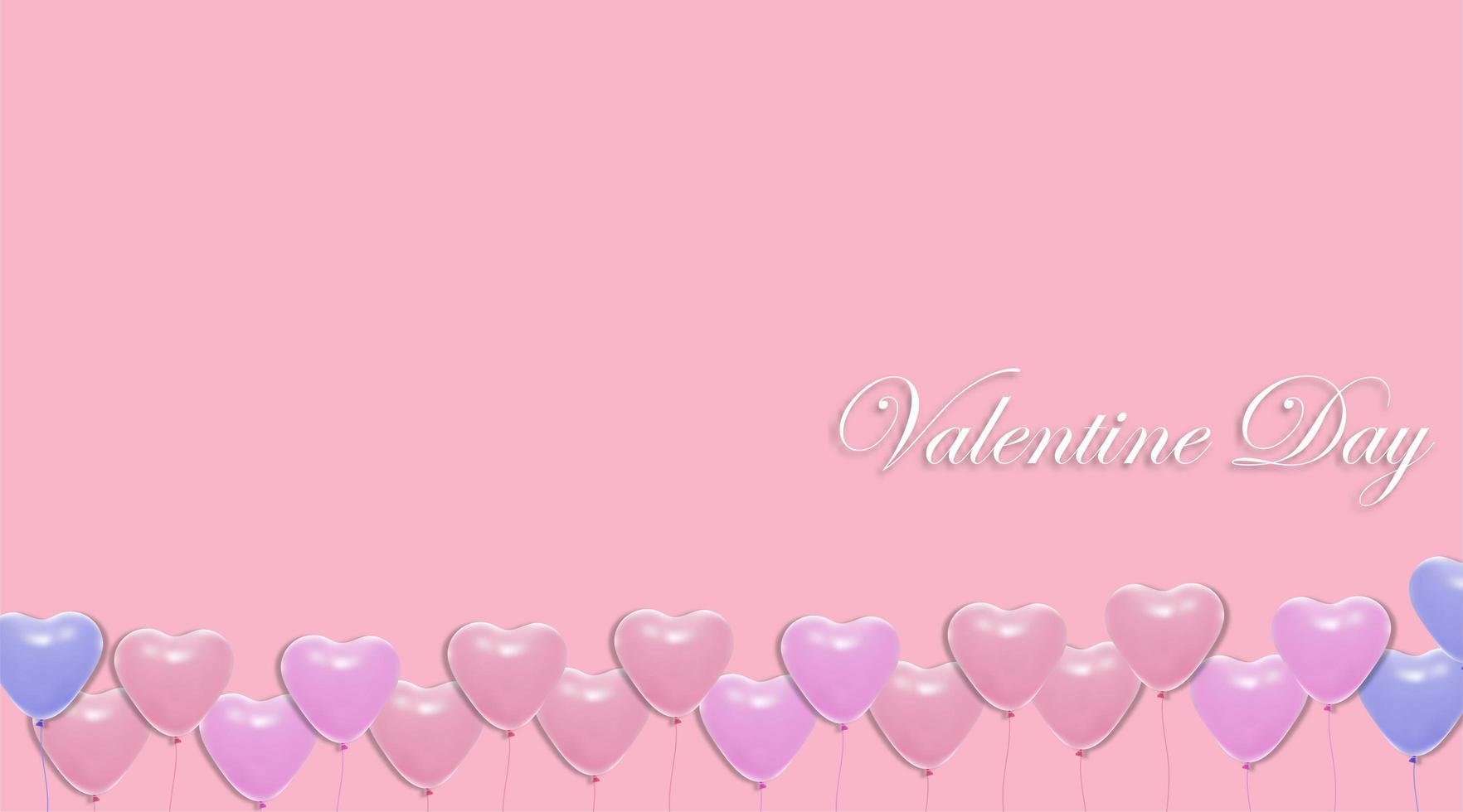 origens do dia dos namorados. Desenho de balão de coração 3D. ilustração vetorial vetor