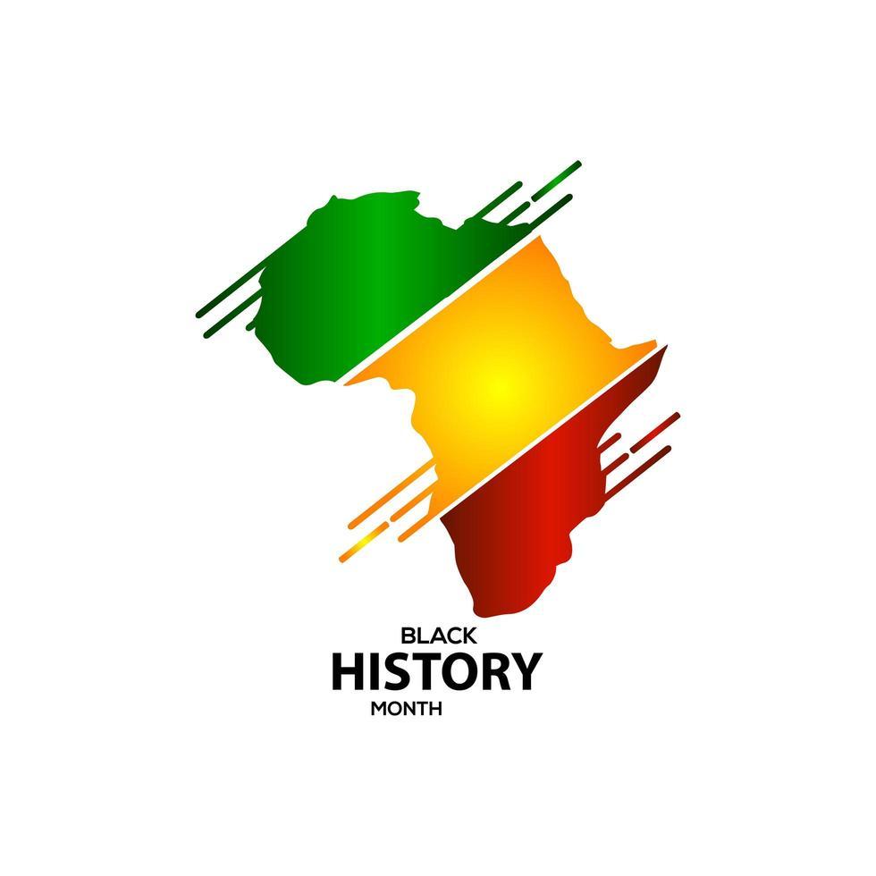 ilustração do projeto do modelo do vetor da celebração do mês da história negra