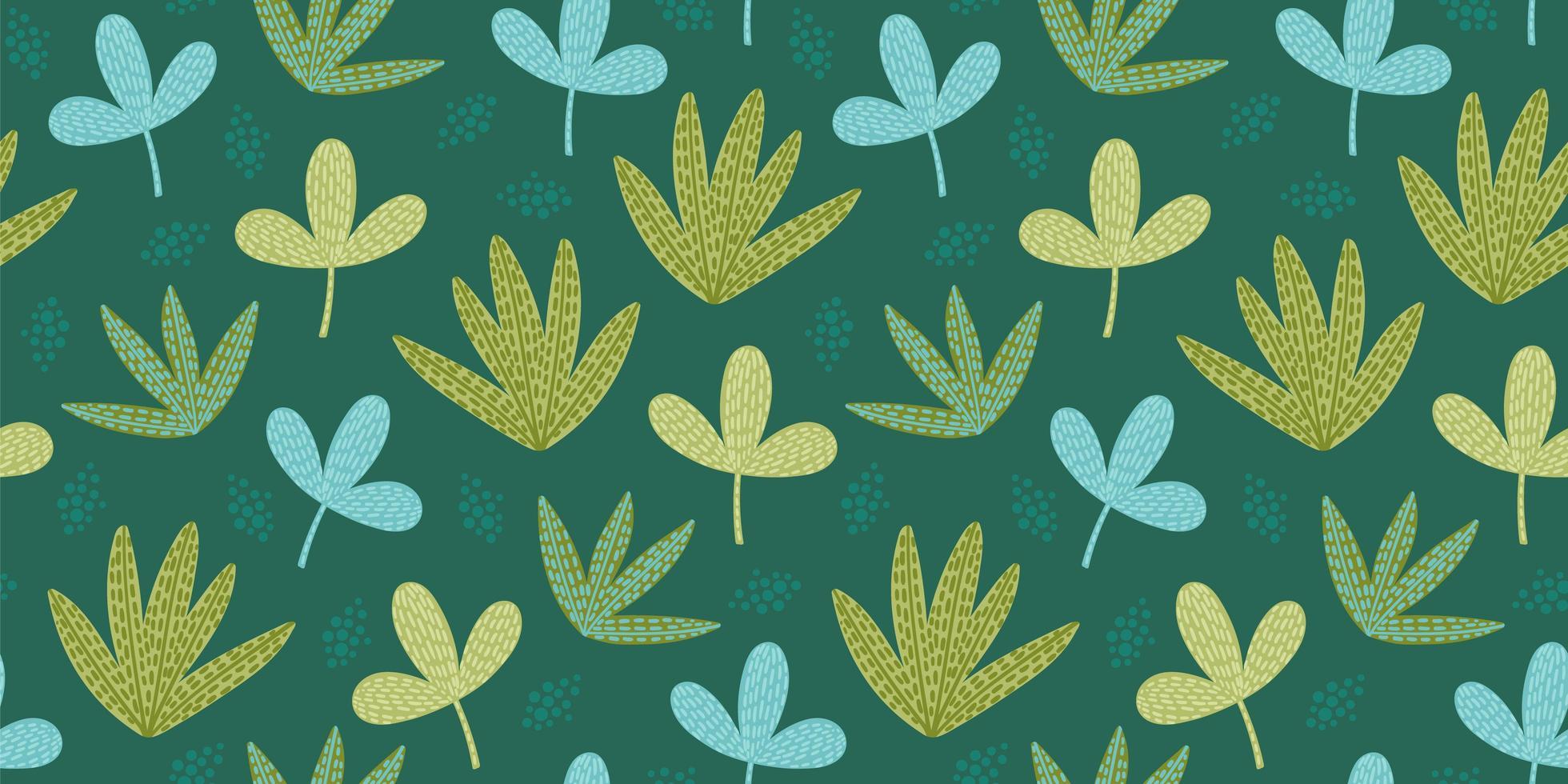 padrão sem emenda artístico com folhas abstratas. design moderno para papel, capa, tecido, decoração de interiores e outros. vetor
