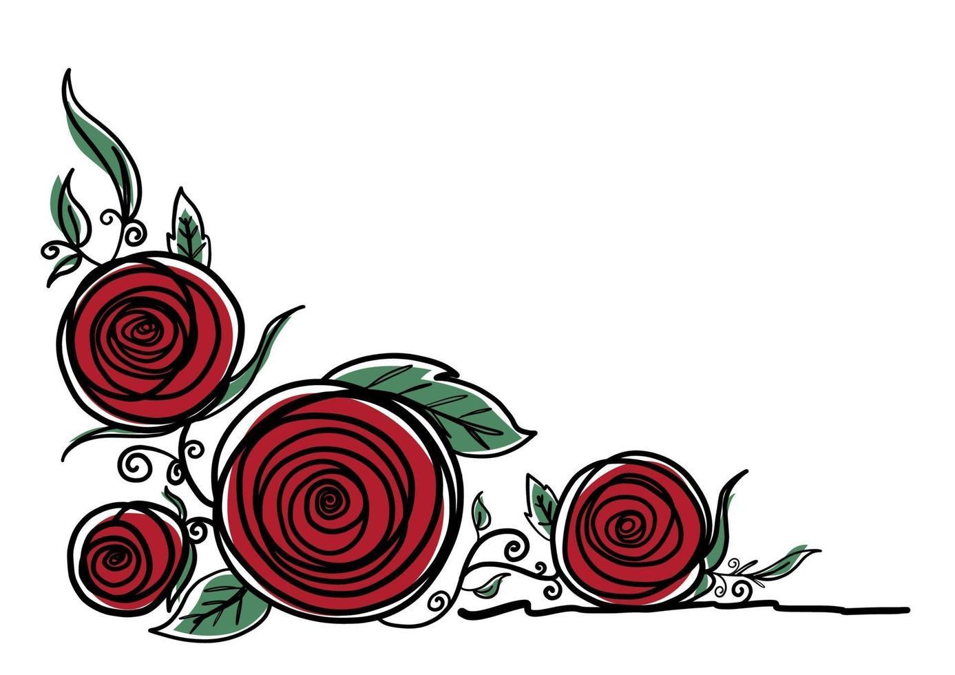ilustração vetorial de flores rosas em fundo branco vetor
