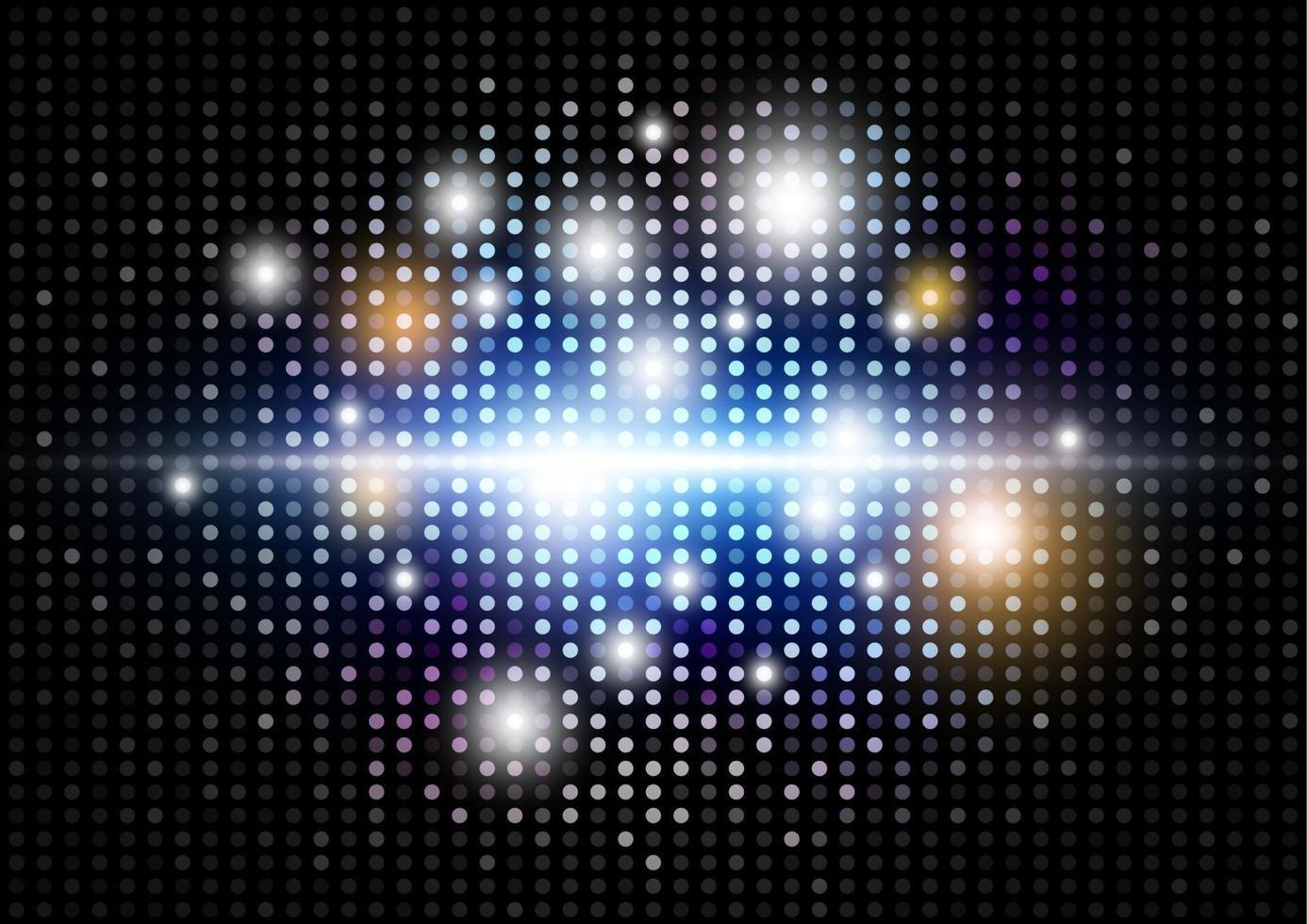 ilustração em vetor abstrato moderno light disco