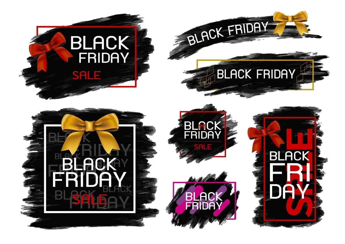 desenho de banner de venda sexta-feira negra em ilustração vetorial de fundo branco vetor