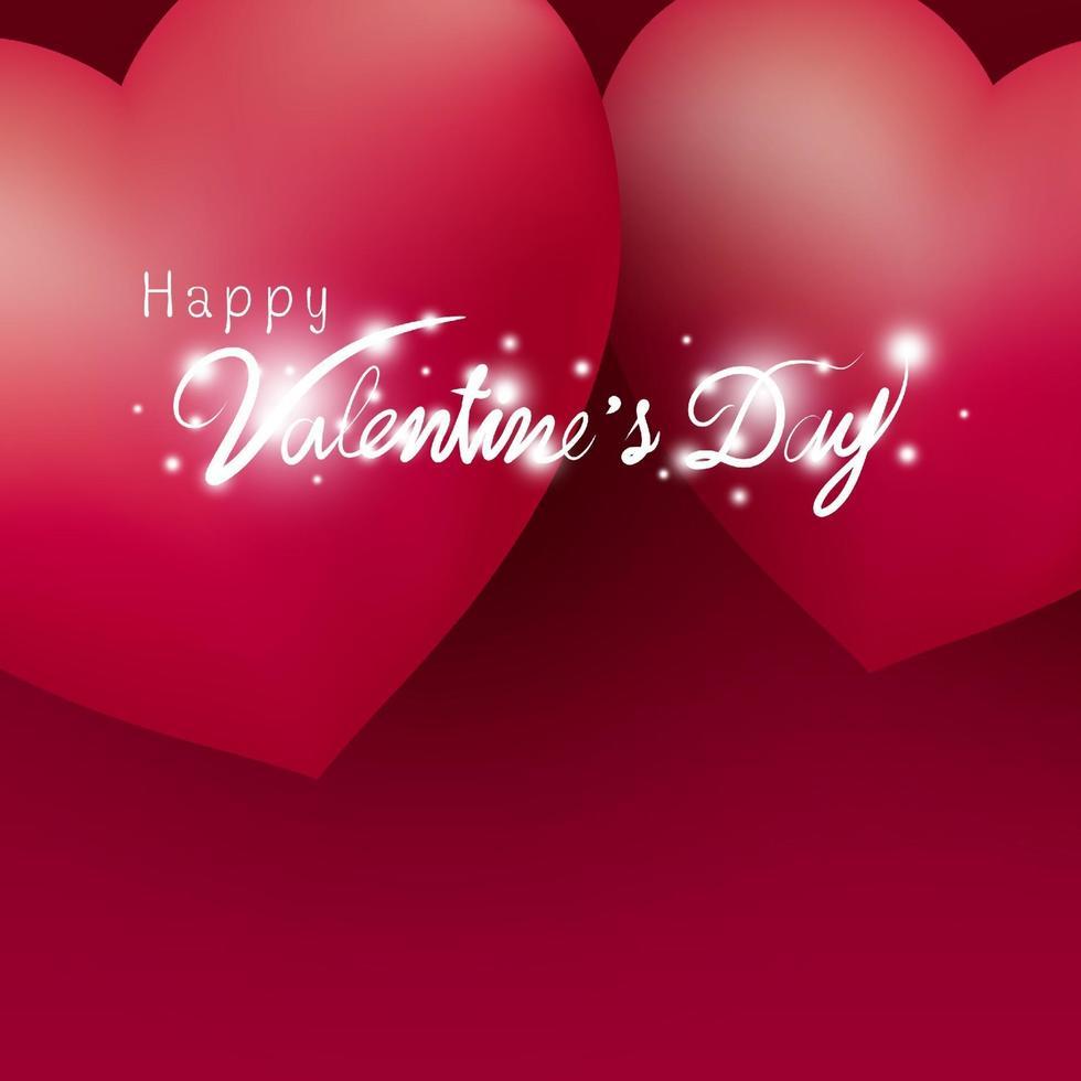feliz dia dos namorados desenho de corações em ilustração vetorial de fundo vermelho vetor