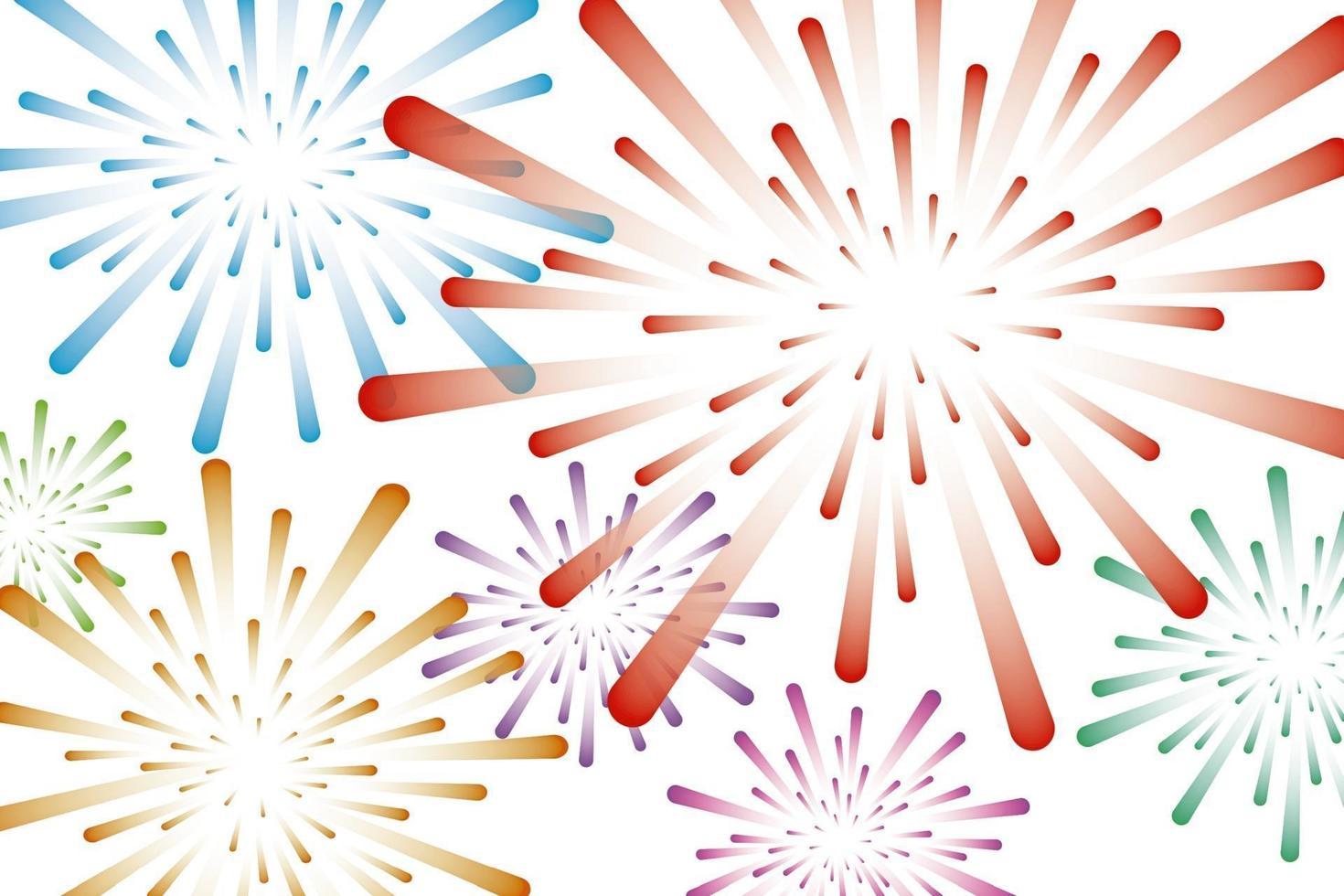 ilustração vetorial de fundo colorido de fogos de artifício vetor