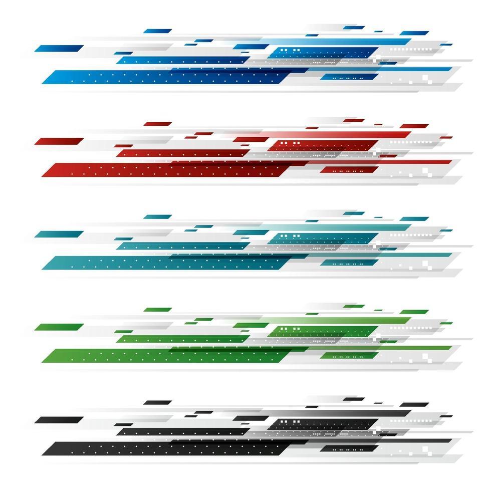 abstrato design de tecnologia digital em ilustração vetorial de fundo branco vetor